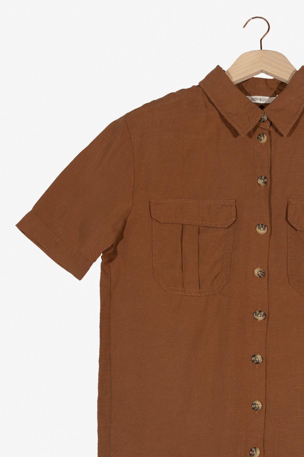 Bruine tencel blouse - Dames | Sissy-Boy