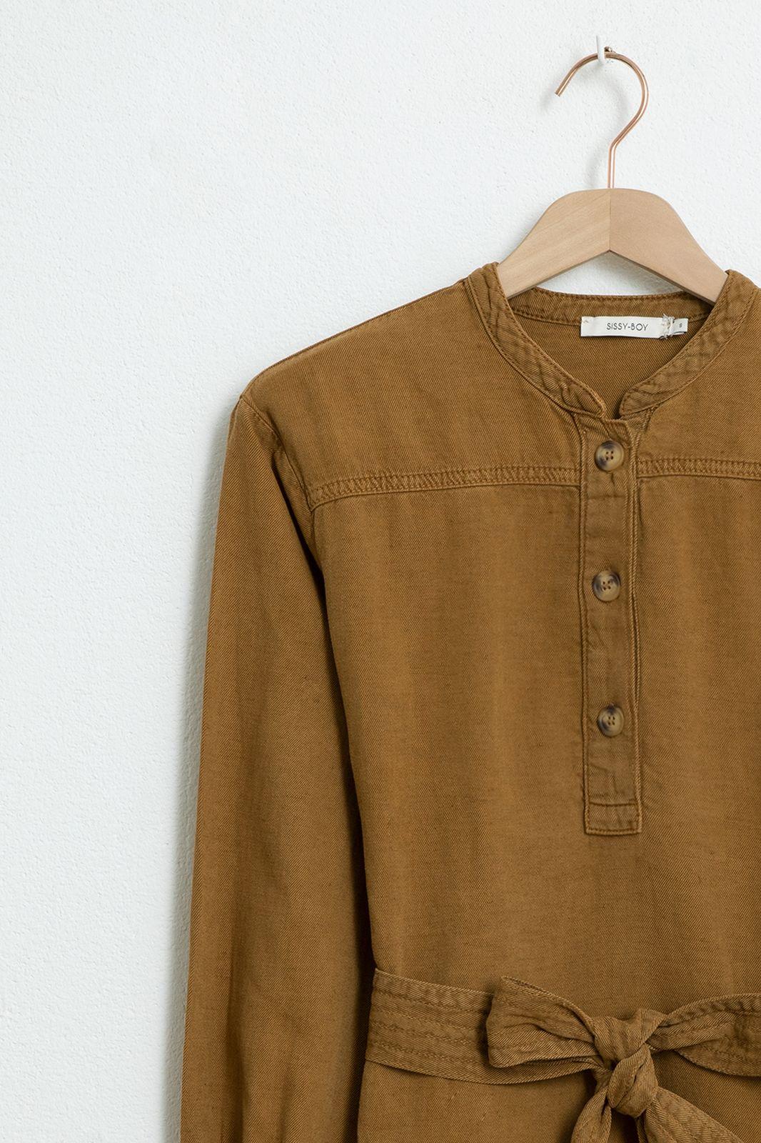 Bruine garment dye blouse - Dames   Sissy-Boy