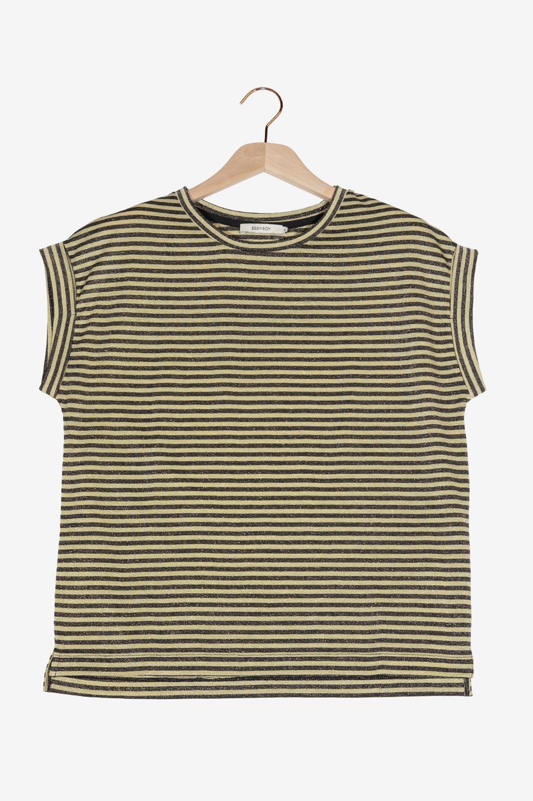 Gestreept t-shirt met lurex - Dames   Sissy-Boy