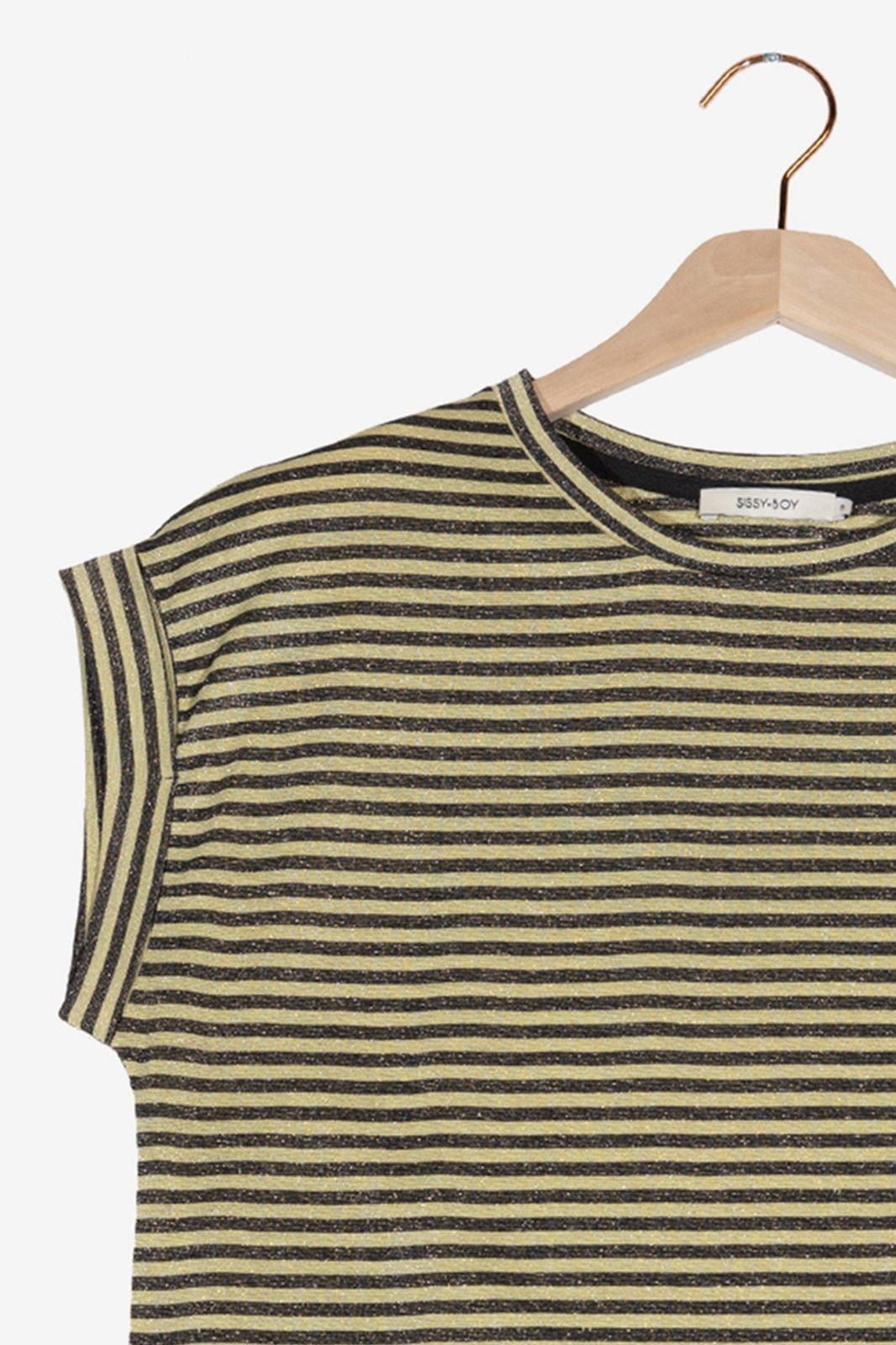 Gestreept t-shirt met lurex