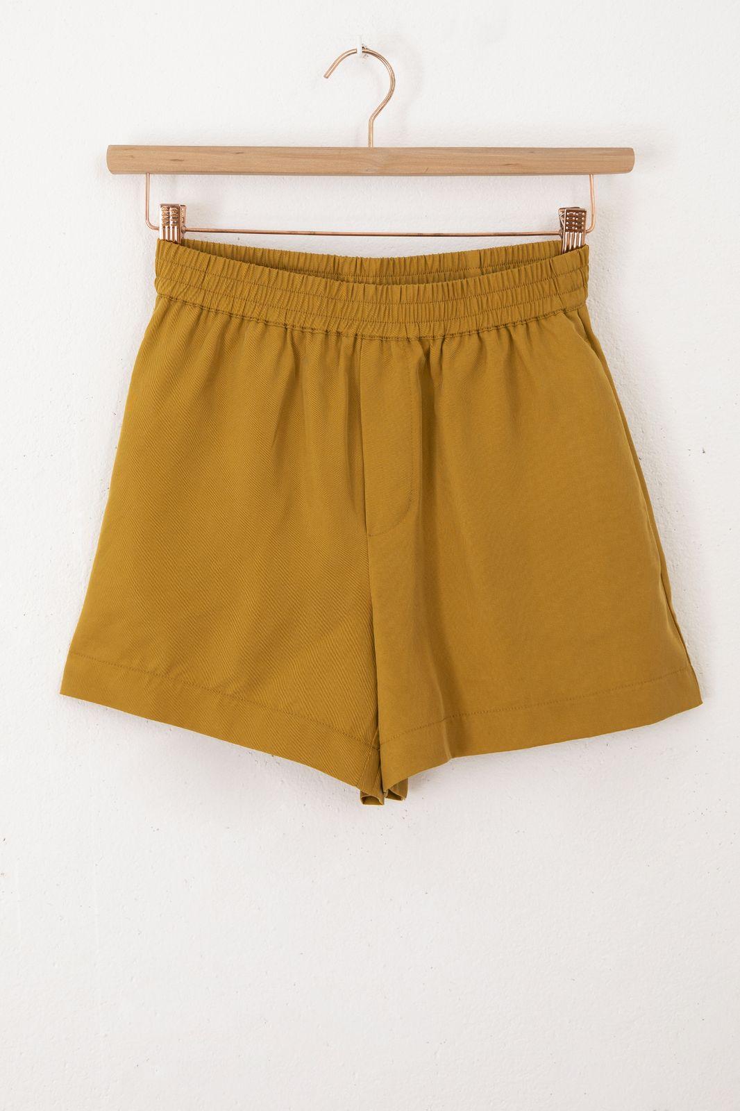 Okergele tencel shorts - Dames | Sissy-Boy