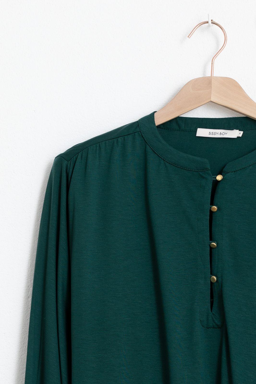 Donkergroene wide sleeves blouse - Dames | Sissy-Boy