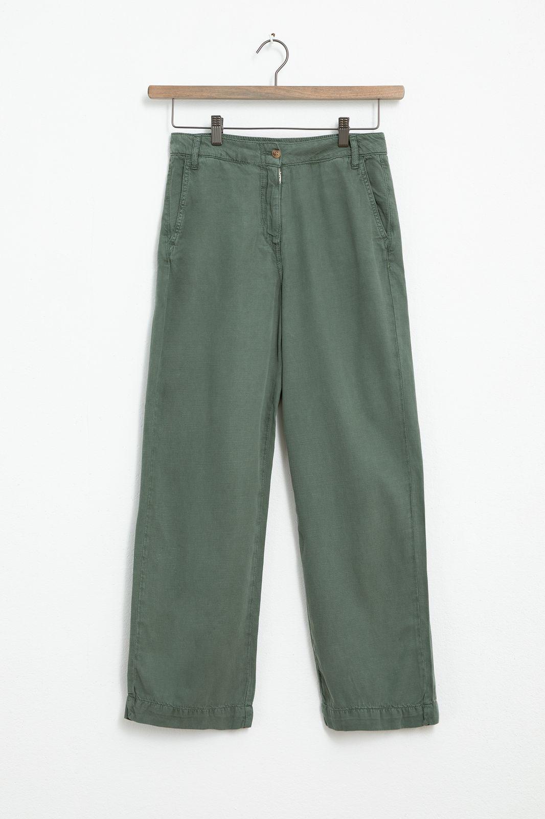 Groene wide leg pantalon