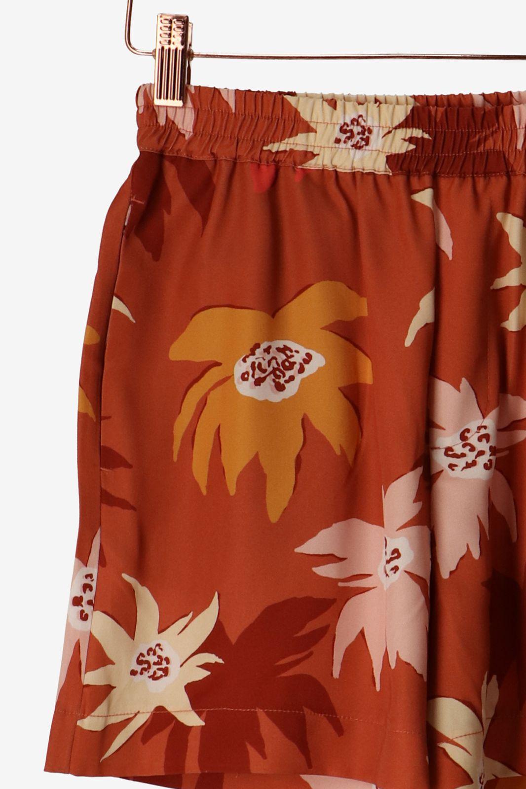Rode tencel shorts met bloemenprint - Dames | Sissy-Boy