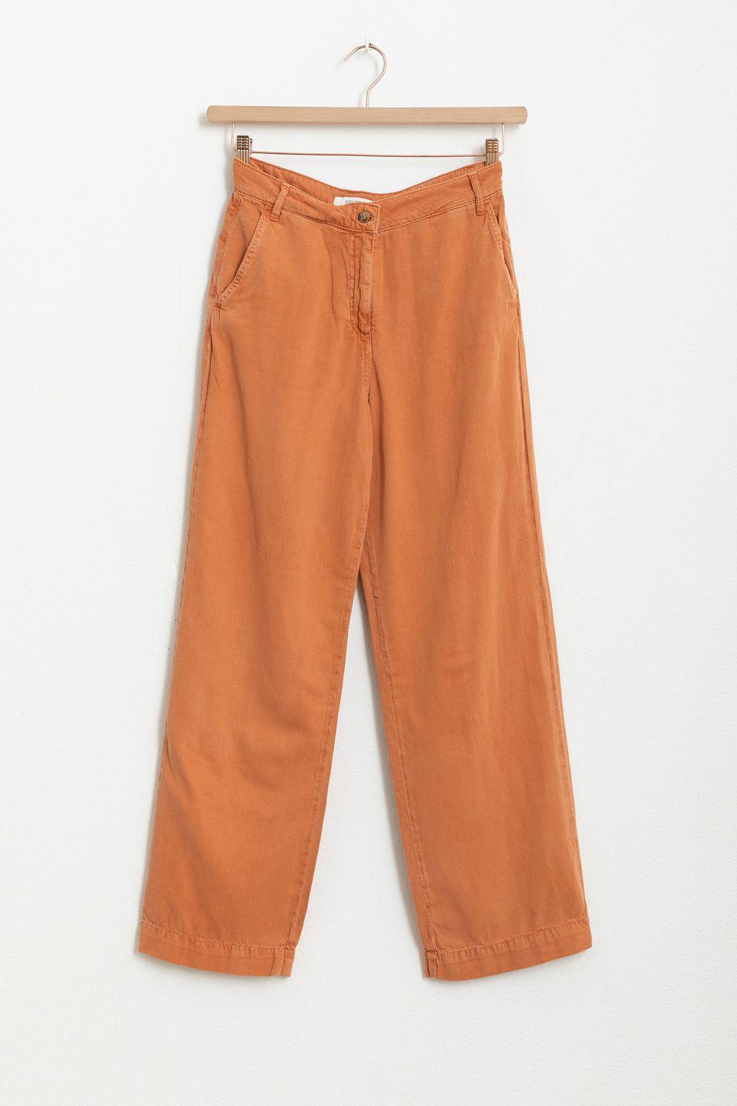 Oranje wide leg pantalon - Dames | Sissy-Boy