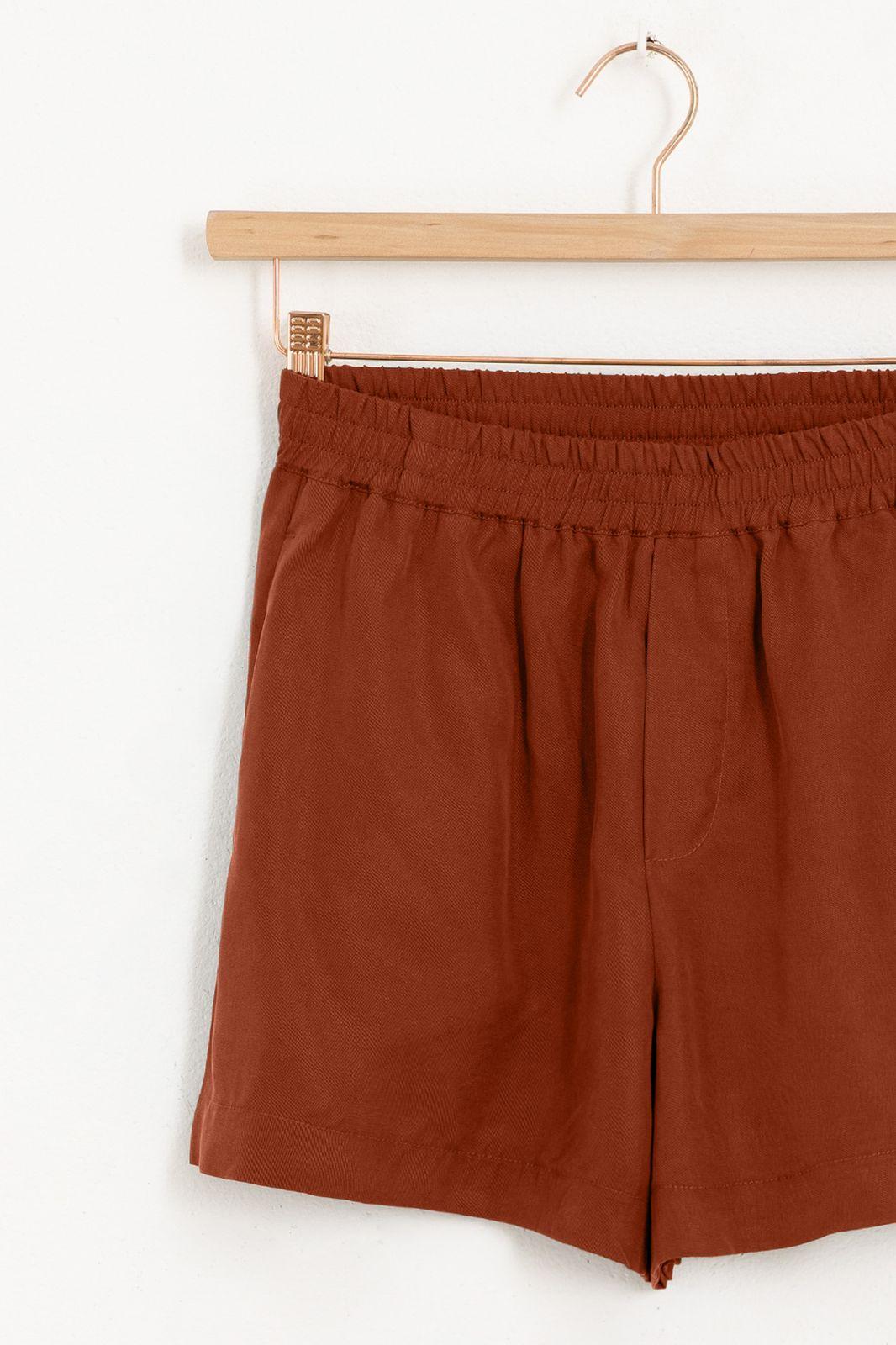 Rode tencel shorts - Dames | Sissy-Boy