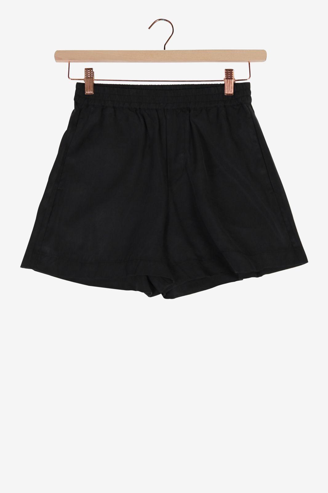 Zwarte tencel short