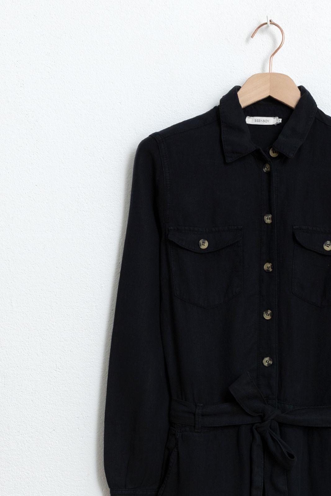 Zwarte garment dye jumpsuit - Dames   Sissy-Boy