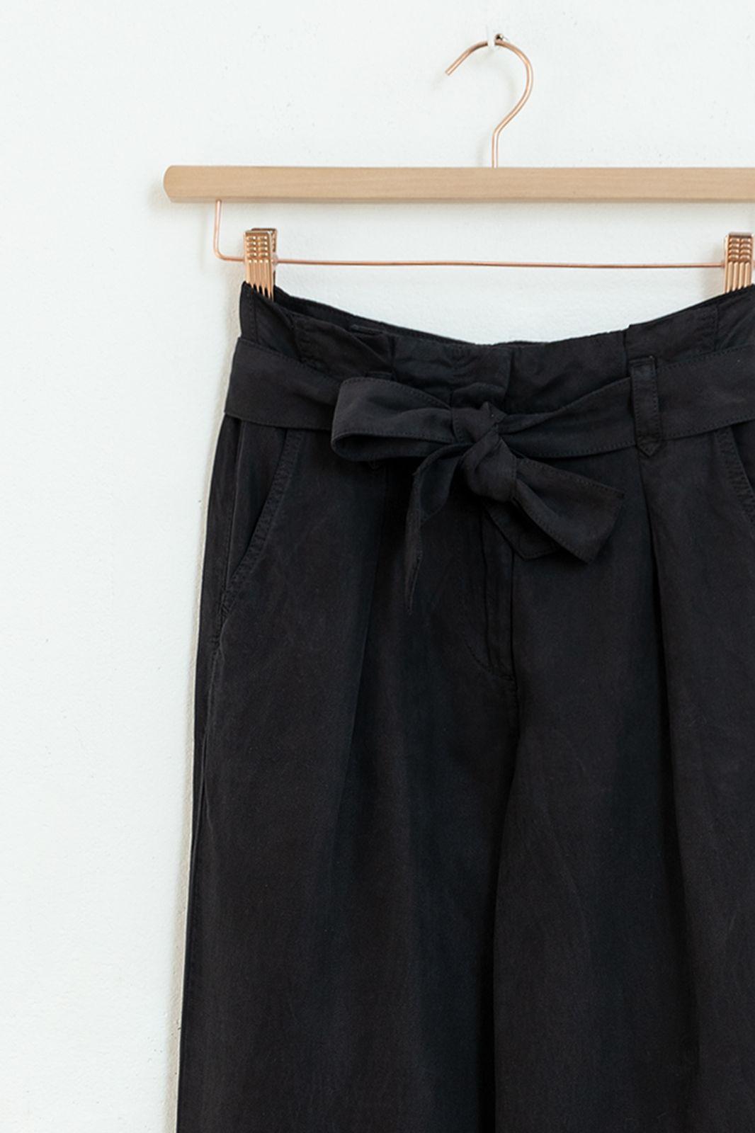 Zwarte high waist paperbag pantalon - Dames | Sissy-Boy