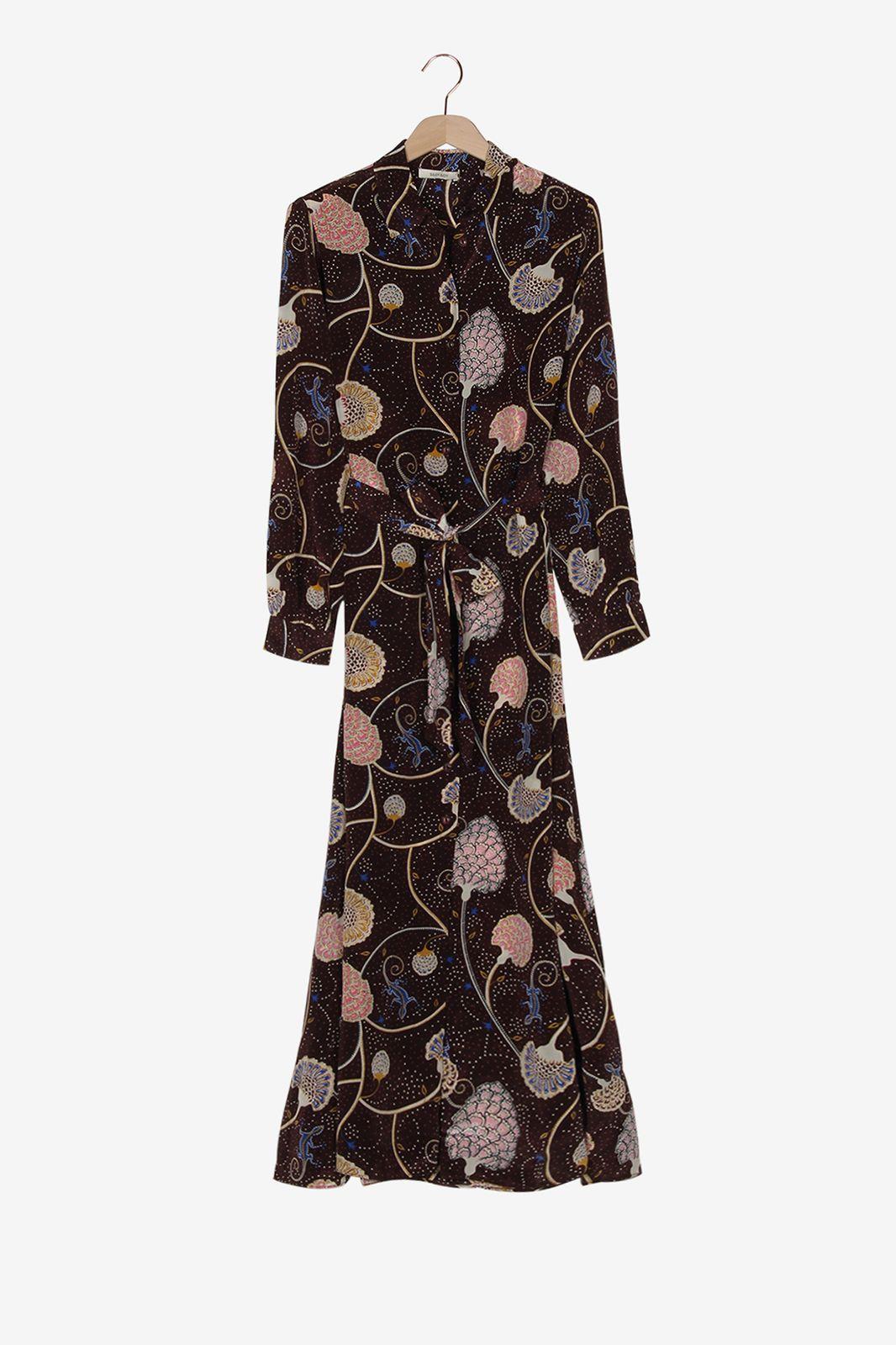 Aubergine maxi jurk met paisley print - Dames | Sissy-Boy