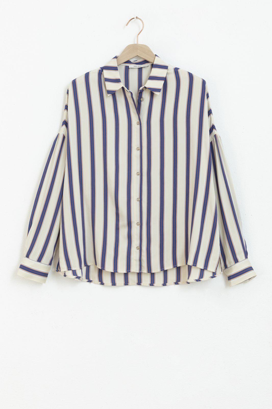 Beige blouse met strepen - Dames | Sissy-Boy