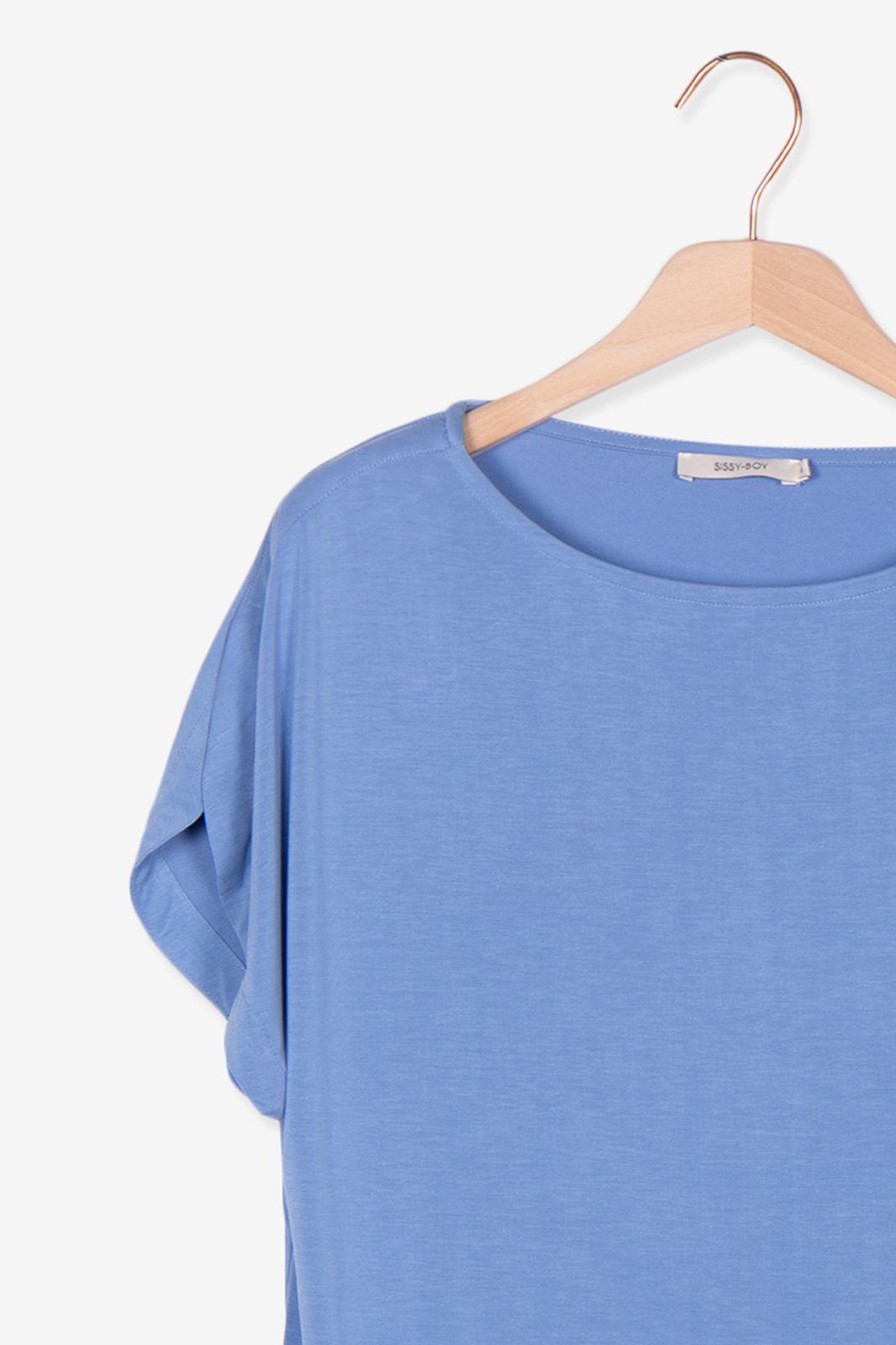 Lichtblauw oversized t-shirt