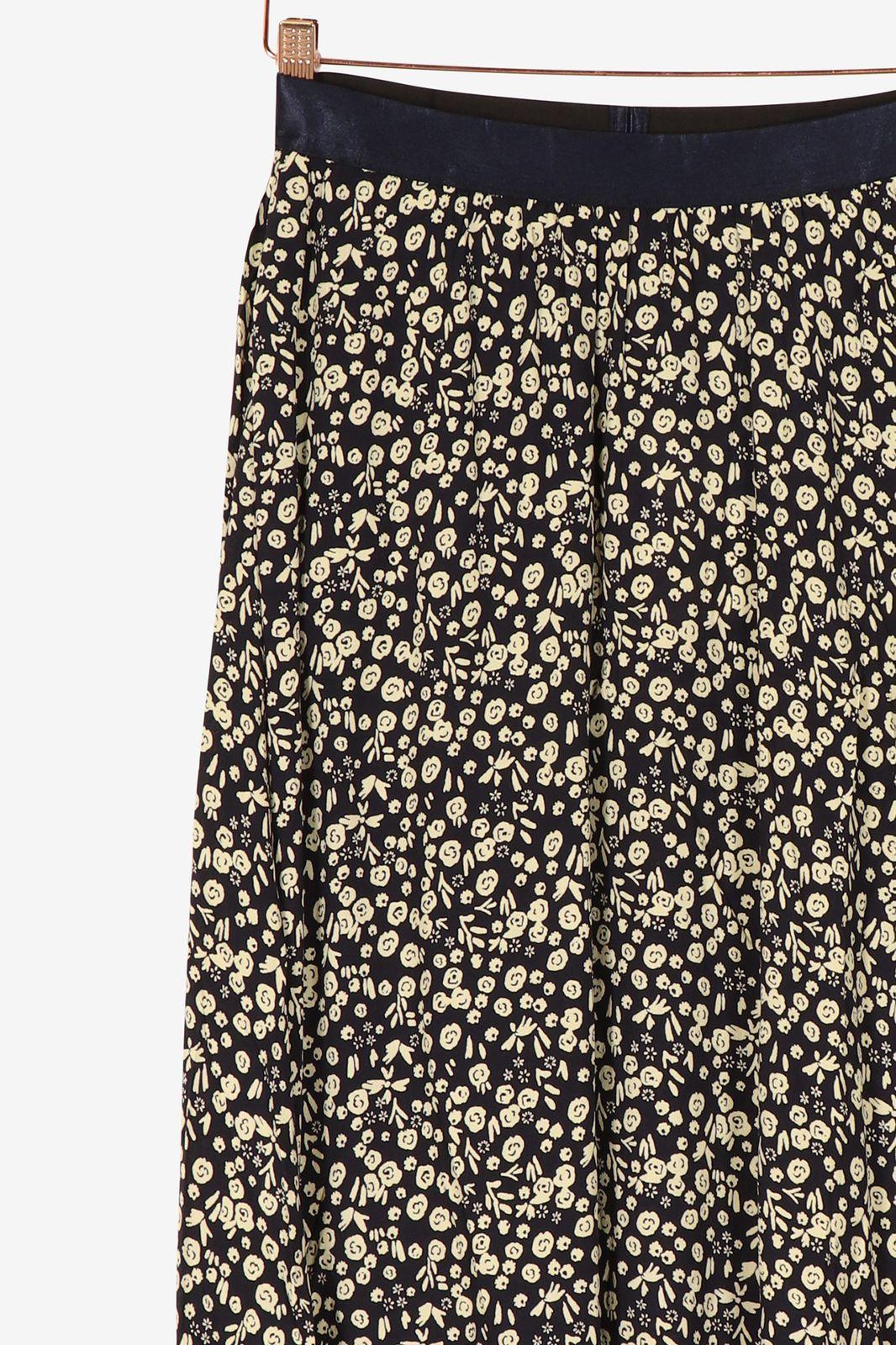 Donkerblauwe rok met bloemenprint - Dames | Sissy-Boy
