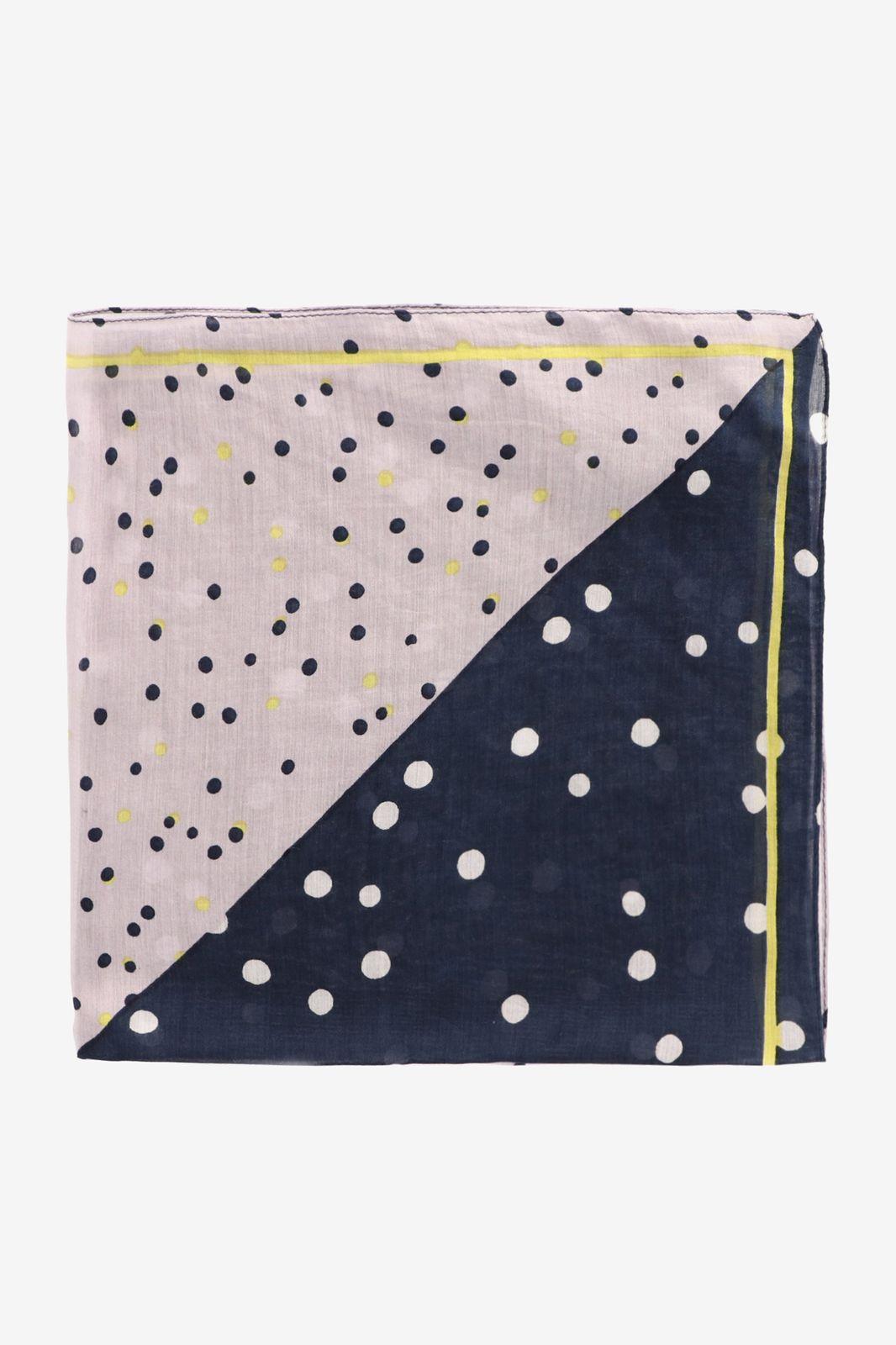 Donkerblauwe sjaal met dots