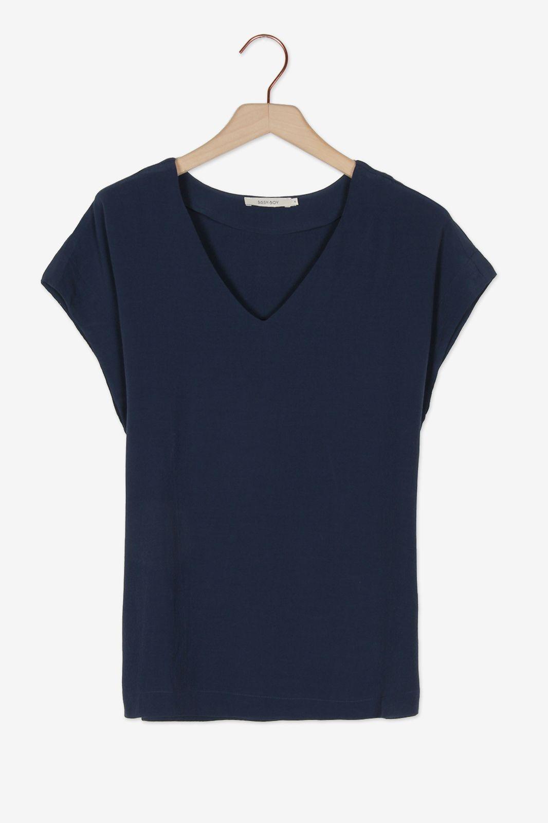 Donkerblauw t-shirt - Dames | Sissy-Boy