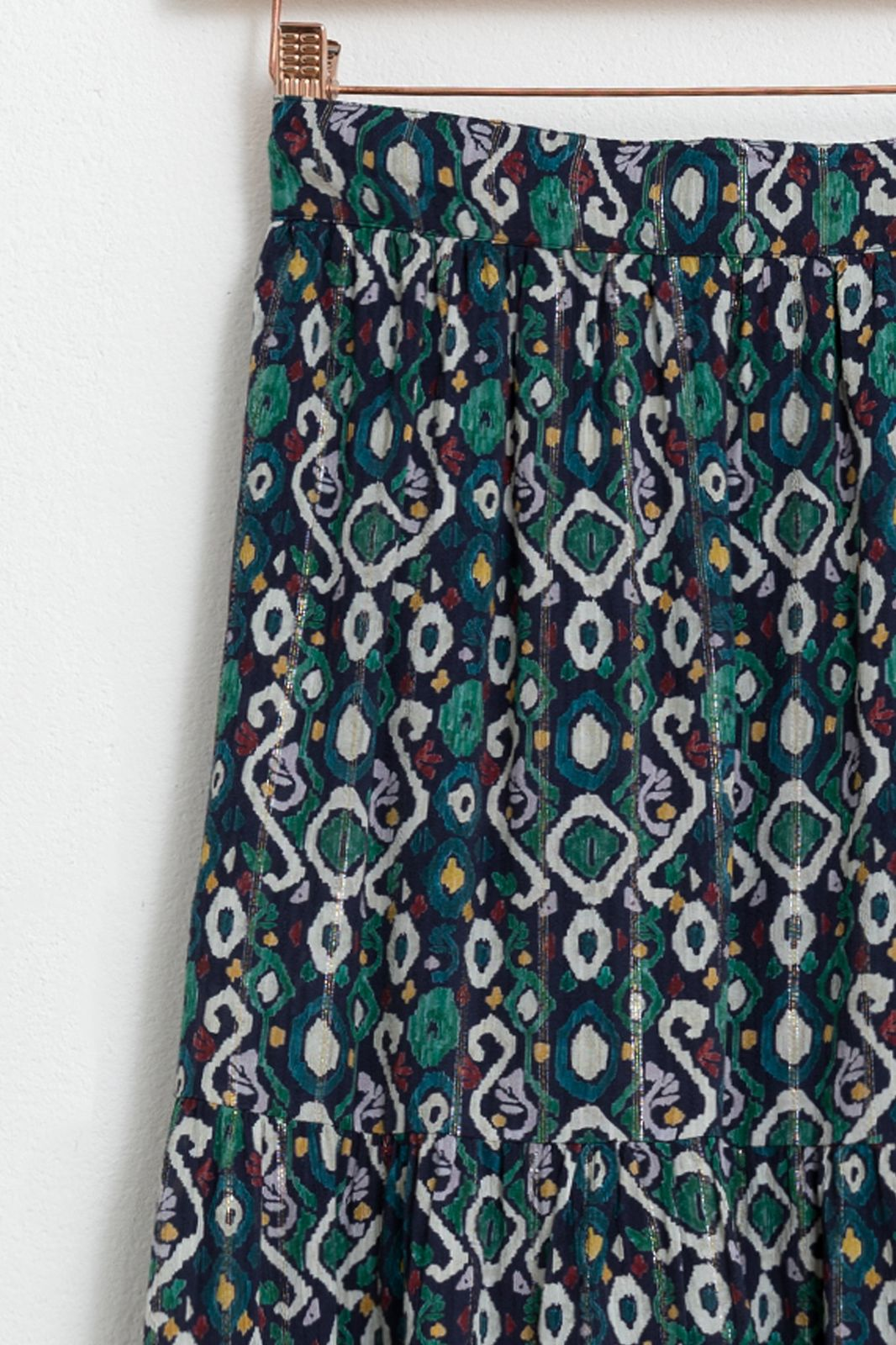 Multicolor rok met all over print