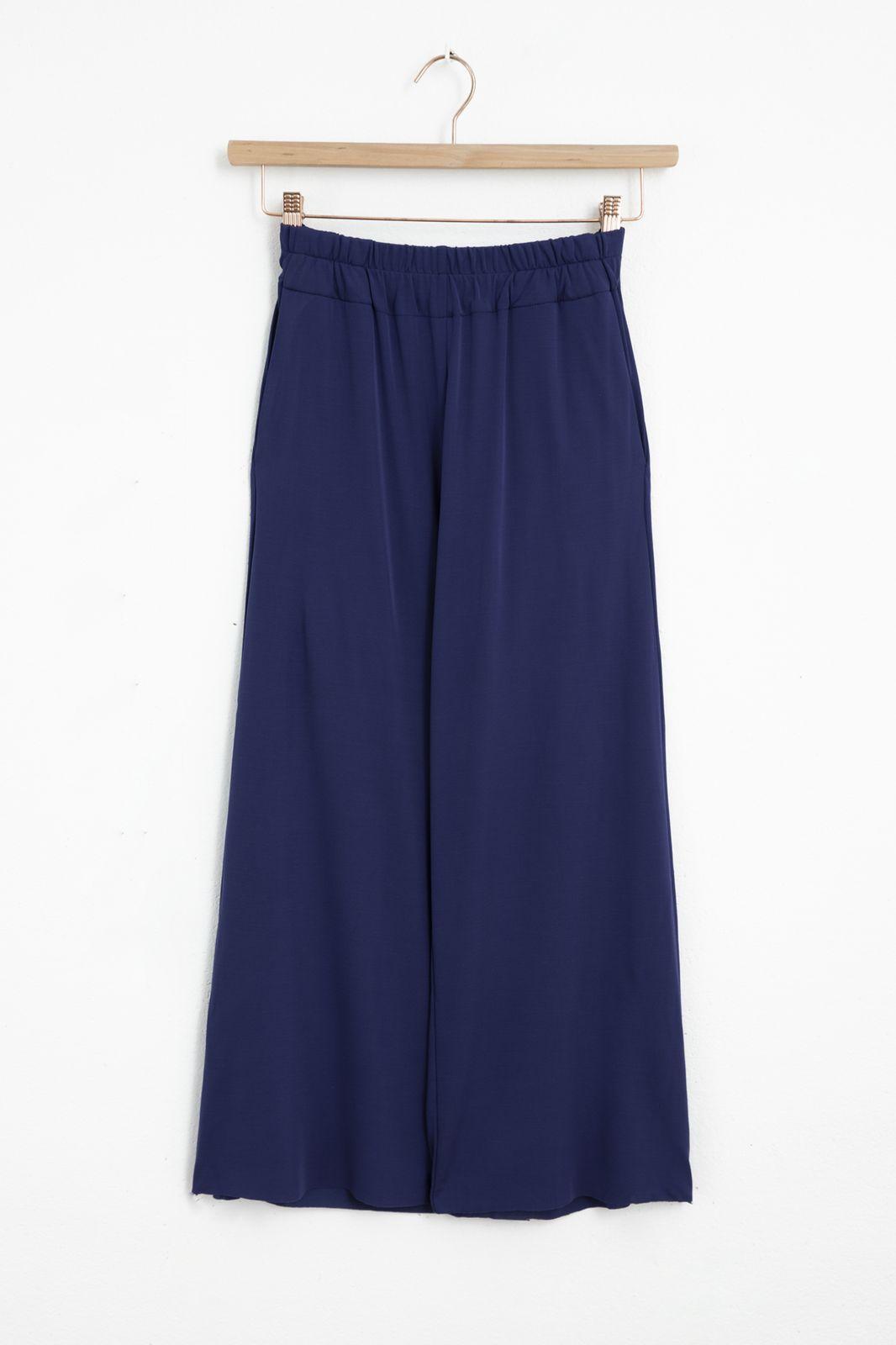 Donkerblauwe culotte broek