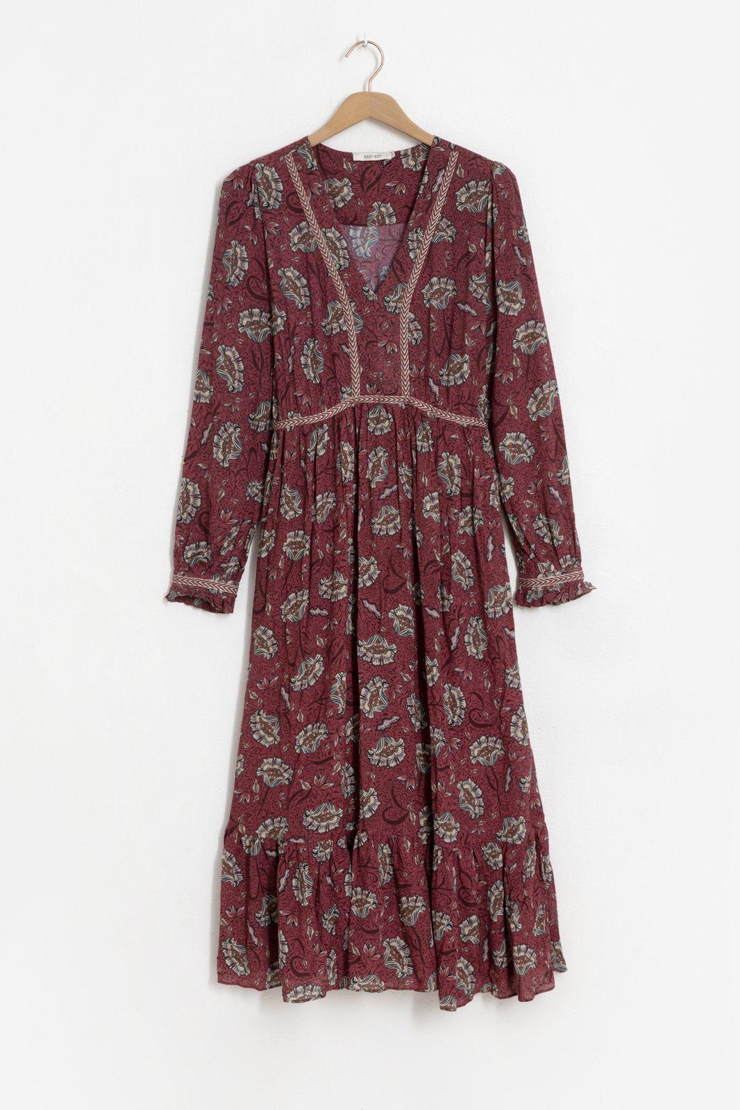 De Huismuts x Sissy-Boy midi jurk met print - Dames | Sissy-Boy
