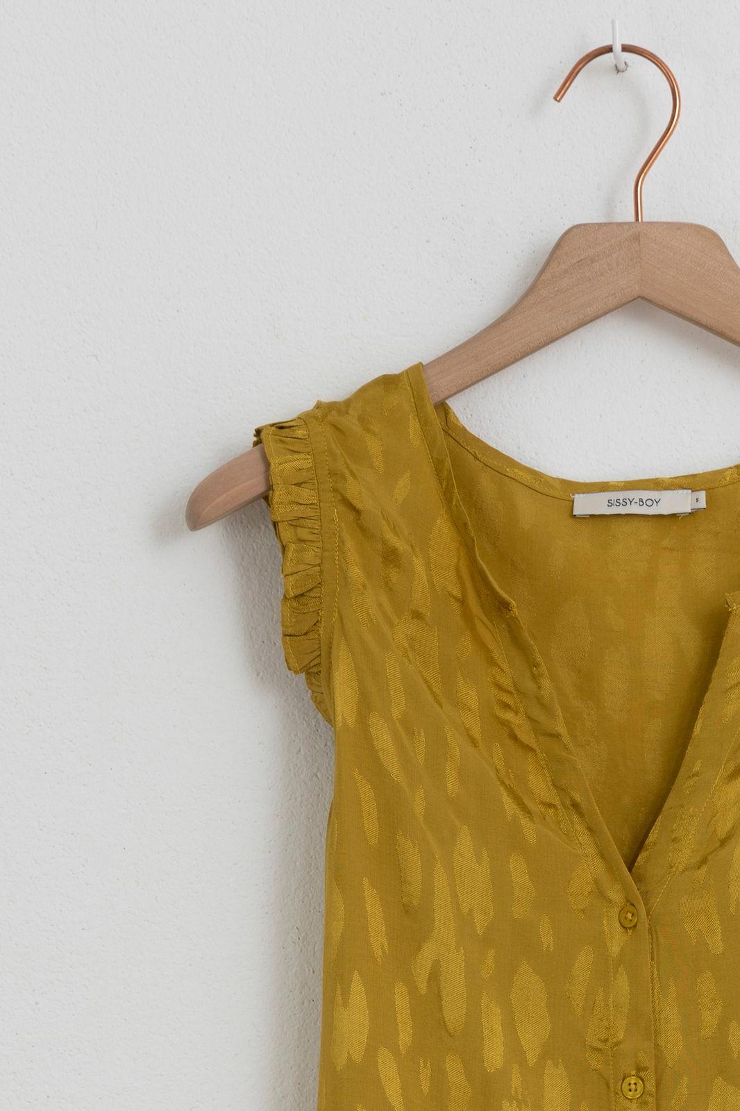 Groen/gele blouse zonder mouwen - Dames | Sissy-Boy