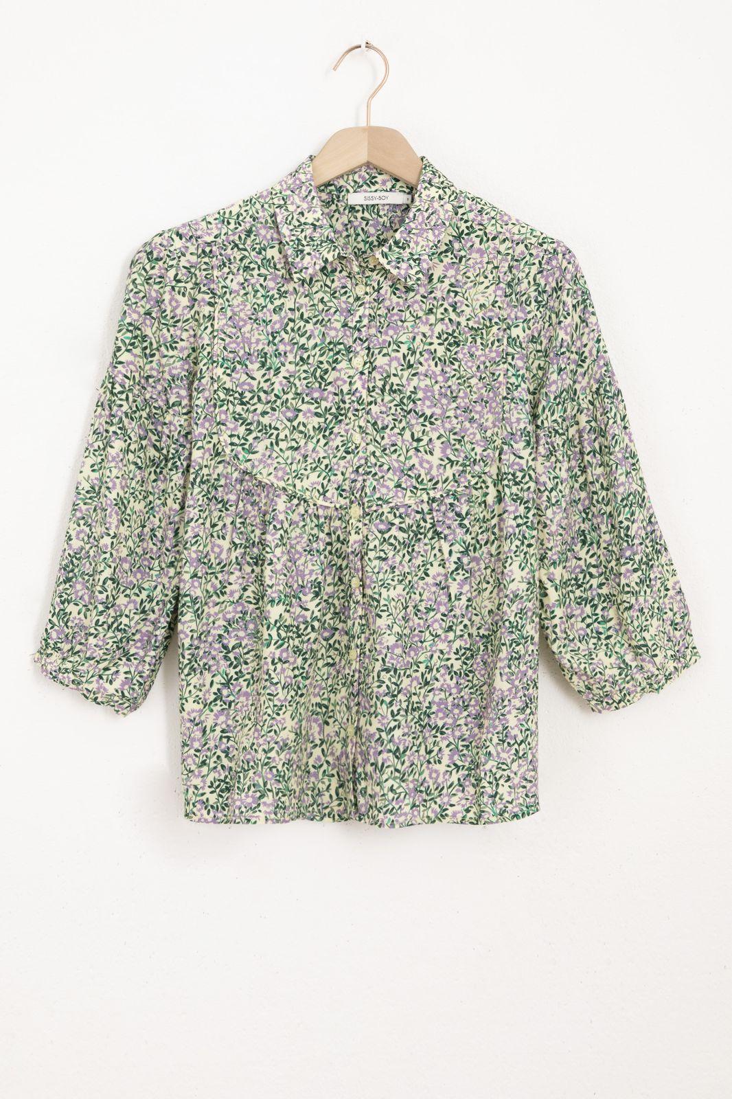 Multicolor blouse met all over bloemenprint