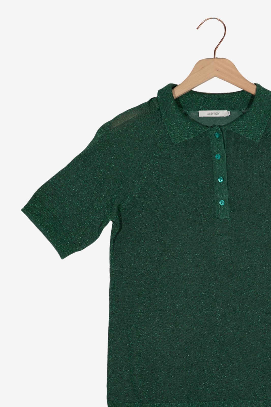 Groene knit polo - Dames   Sissy-Boy