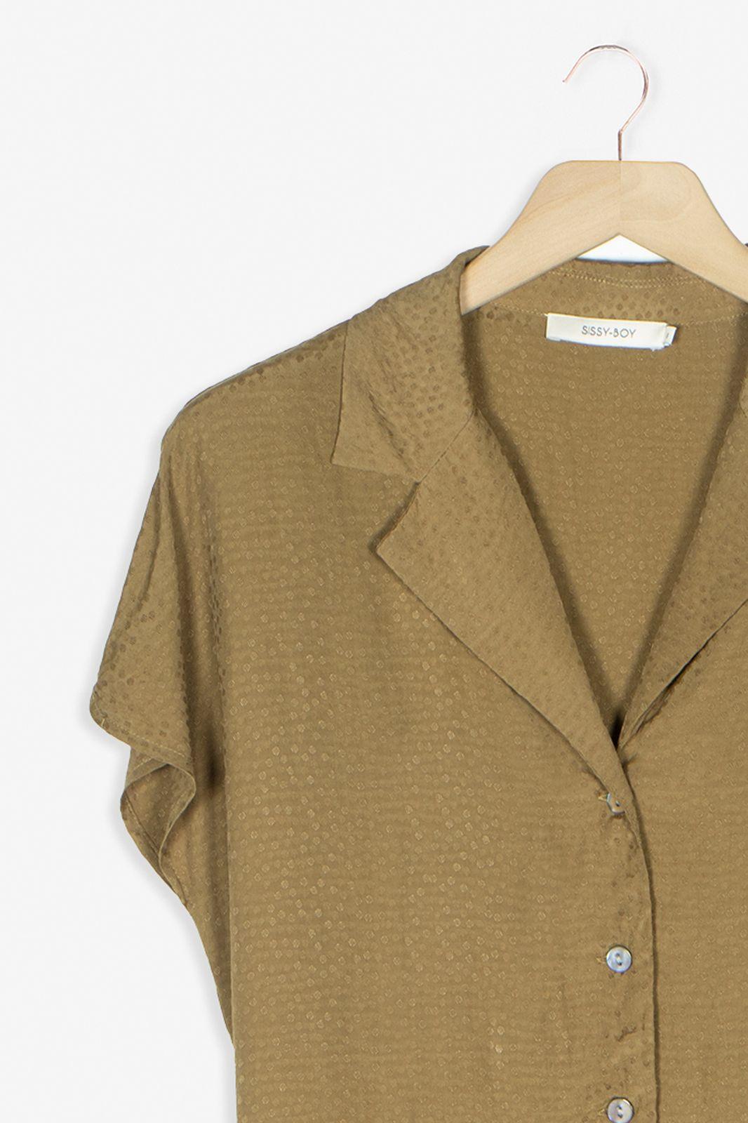 Khaki blouse met dots - Dames | Sissy-Boy