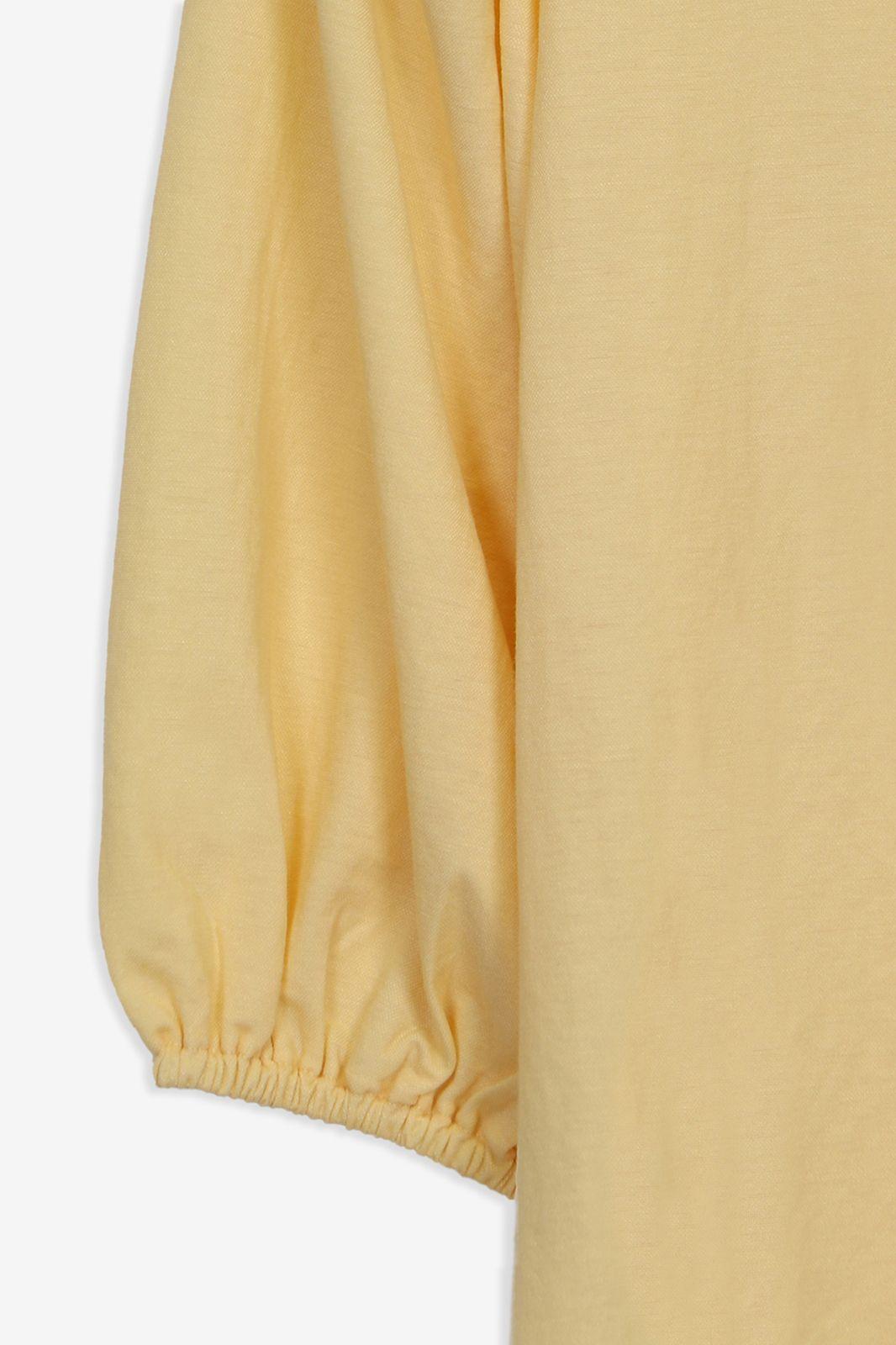Geel t-shirt met oversized mouwen - Dames | Sissy-Boy