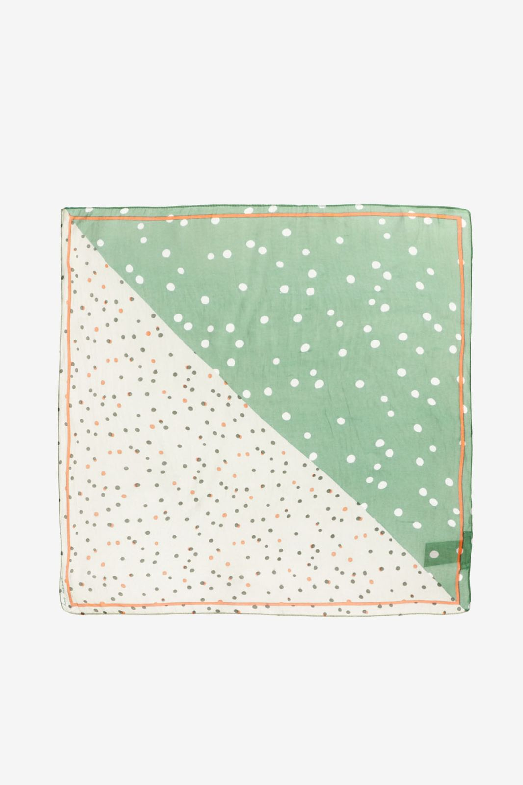 Groene sjaal Aafje Dots