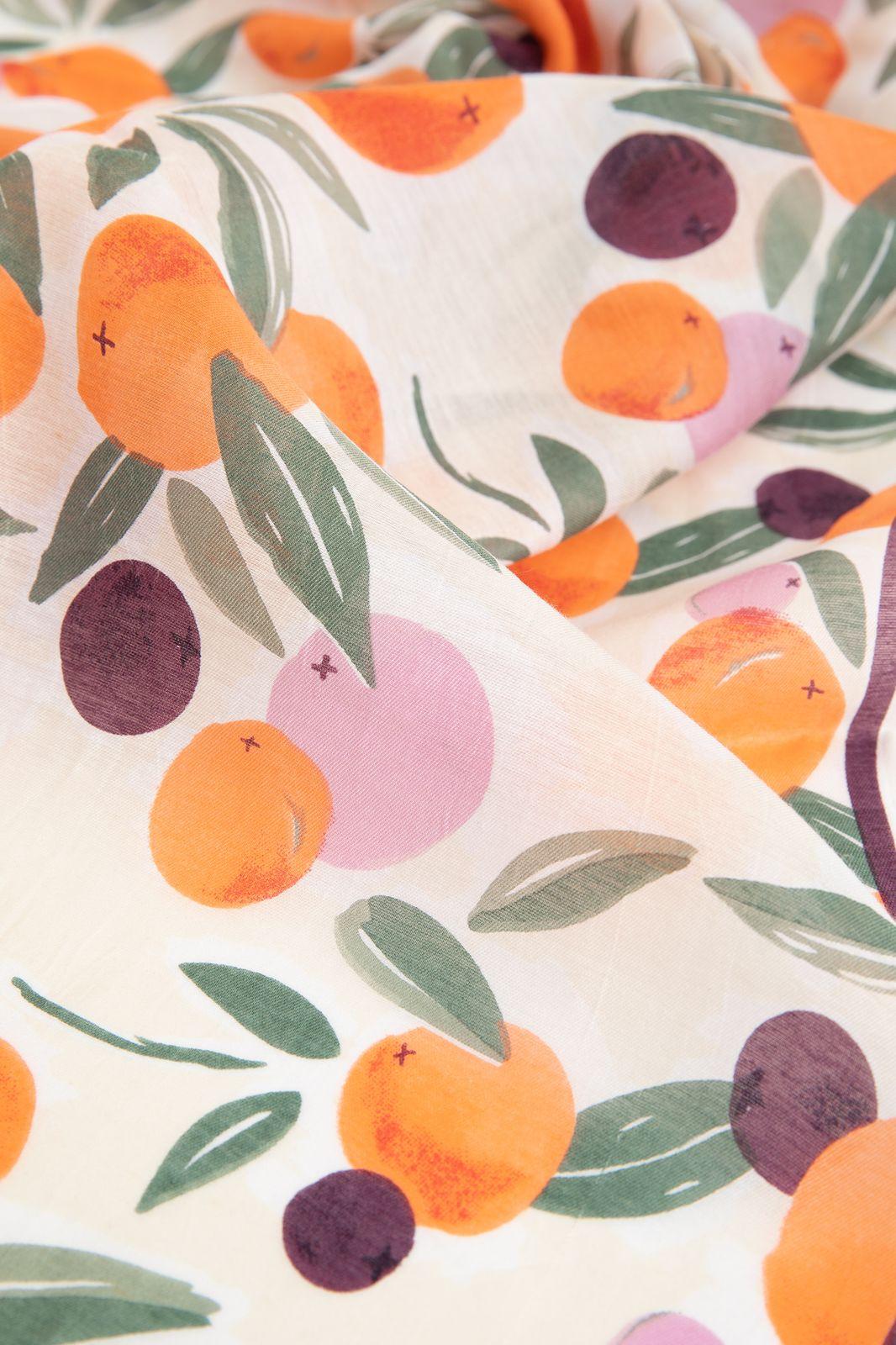 Sjaal met all over sinaasappel print - Dames | Sissy-Boy