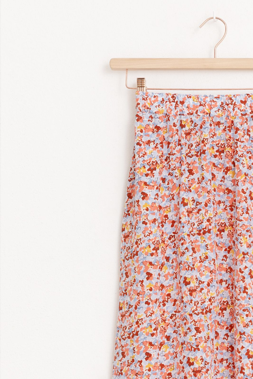 Maxi rok met all over bloemenprint
