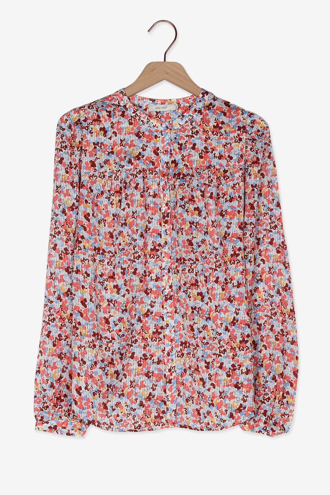 Multicolor blouse bloemen