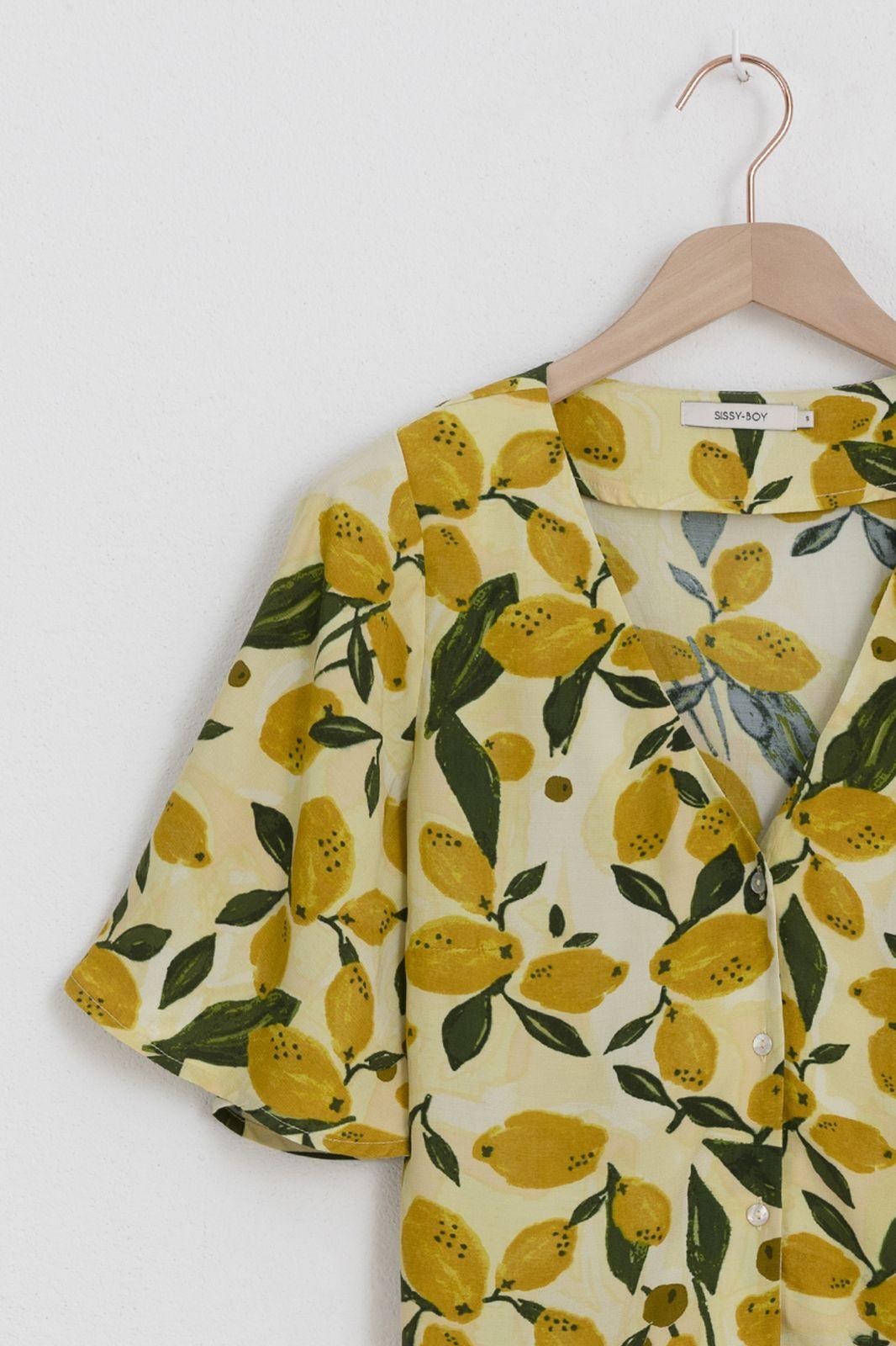 Gele blouse met citroenen - Dames | Sissy-Boy