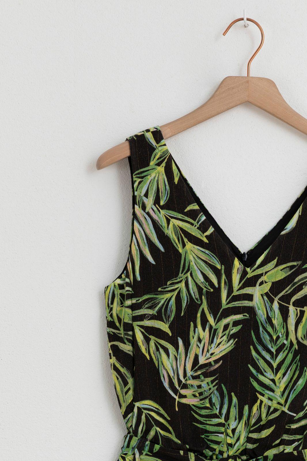 Groene jumpsuit jungleprint