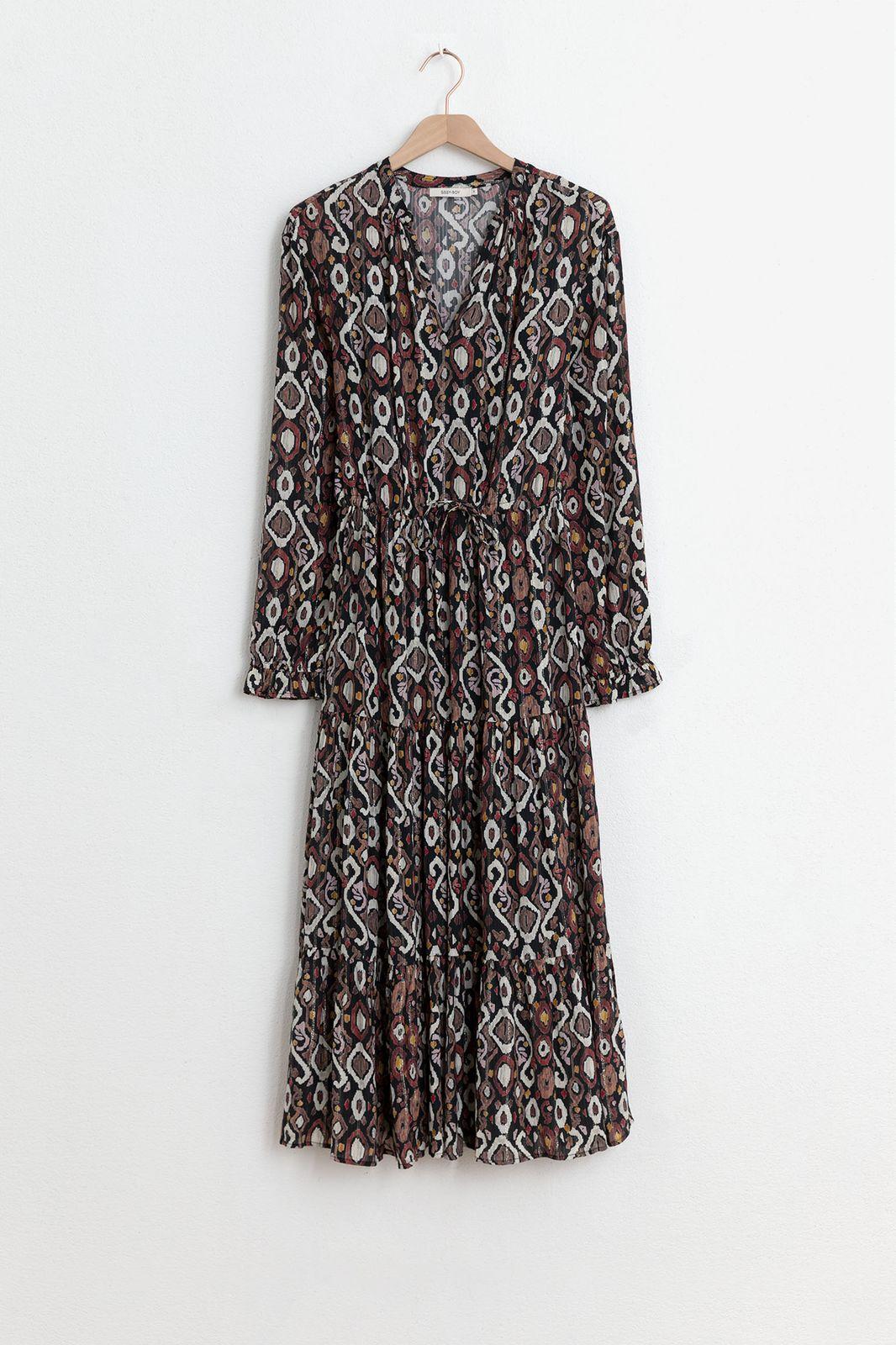 Multicolor jurk met all over lurex print - Dames | Sissy-Boy