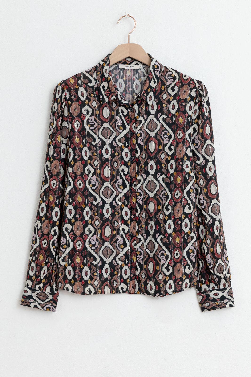 Multicolor blouse met all over lurex print - Dames | Sissy-Boy