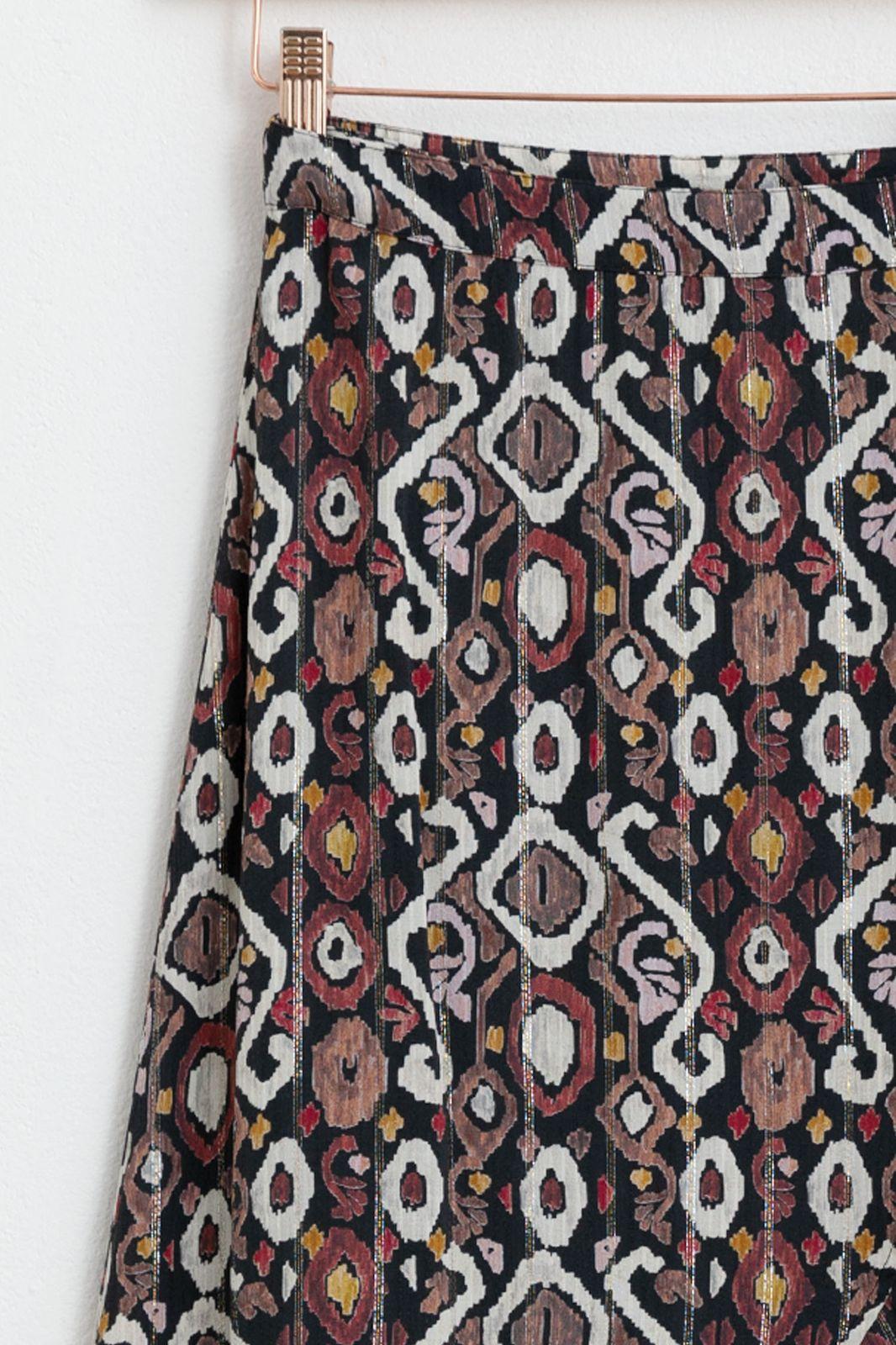Multicolor rok met all over lurex print - Dames | Sissy-Boy