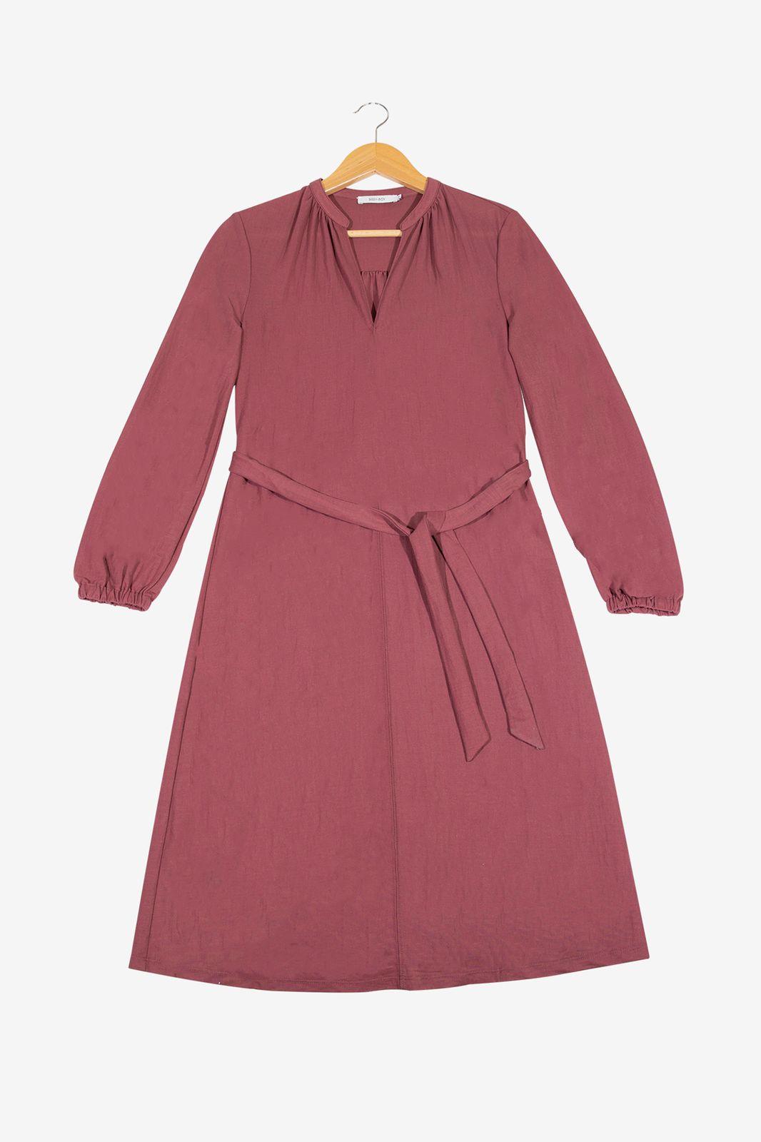 Oudroze midi jurk met riempje - Dames | Sissy-Boy