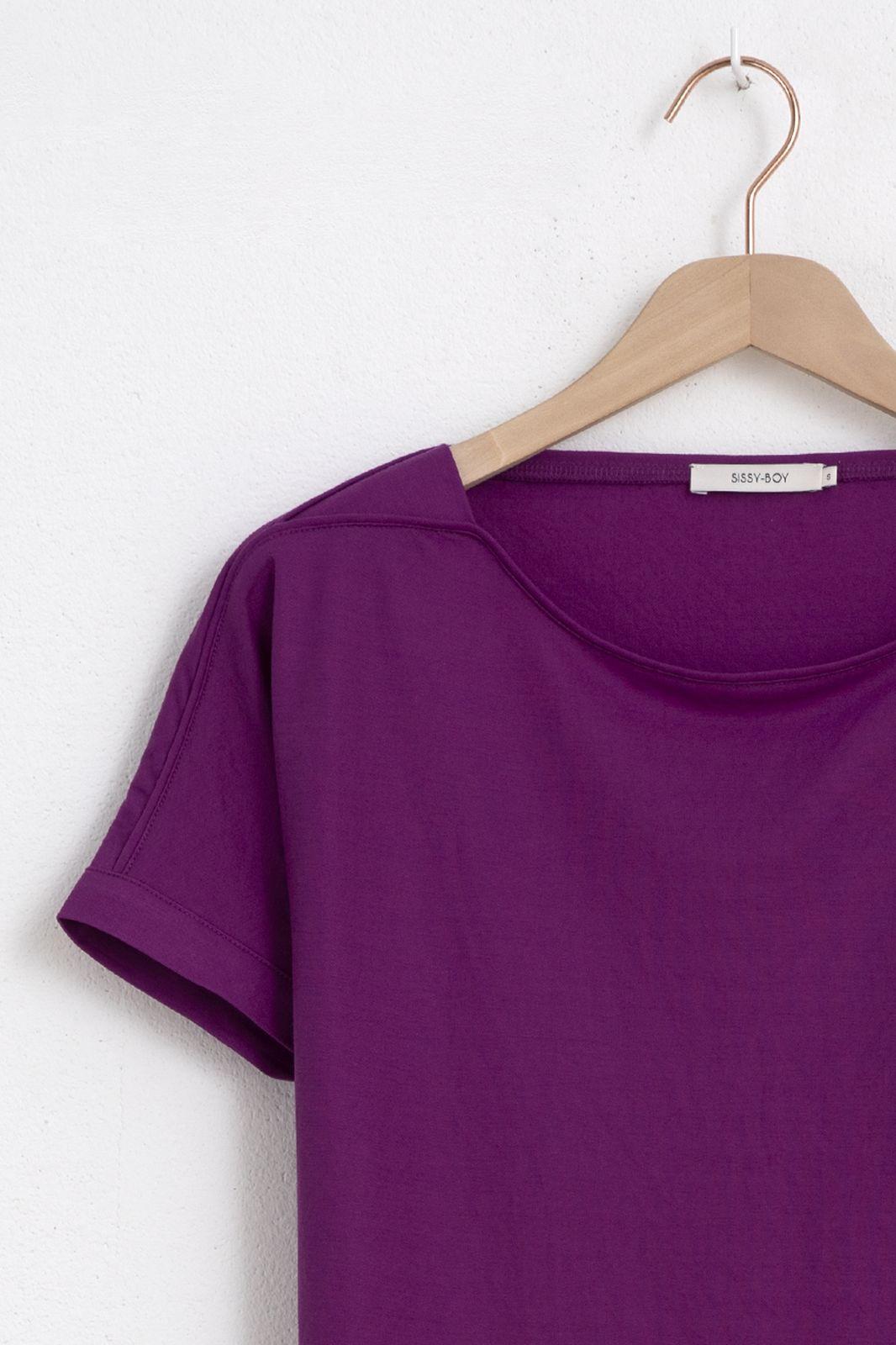 Paars t-shirt met korte mouwen