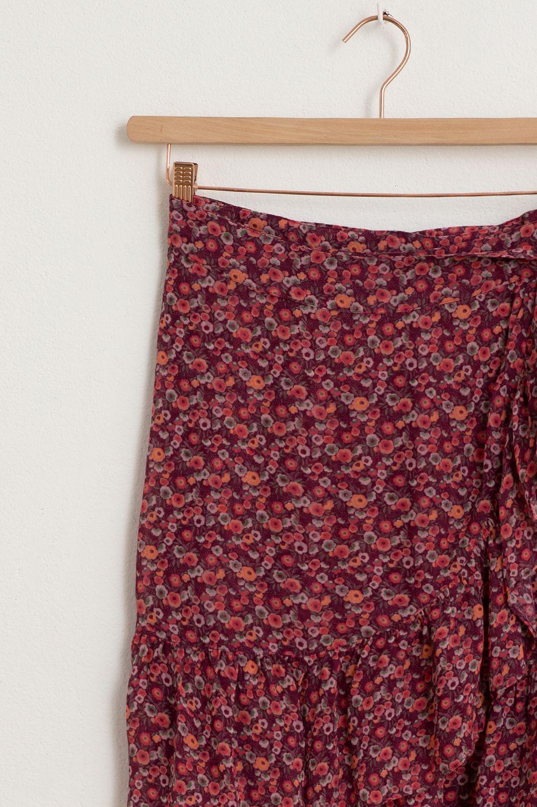 Paarse ruffle rok met all over bloemenprint - Dames | Sissy-Boy