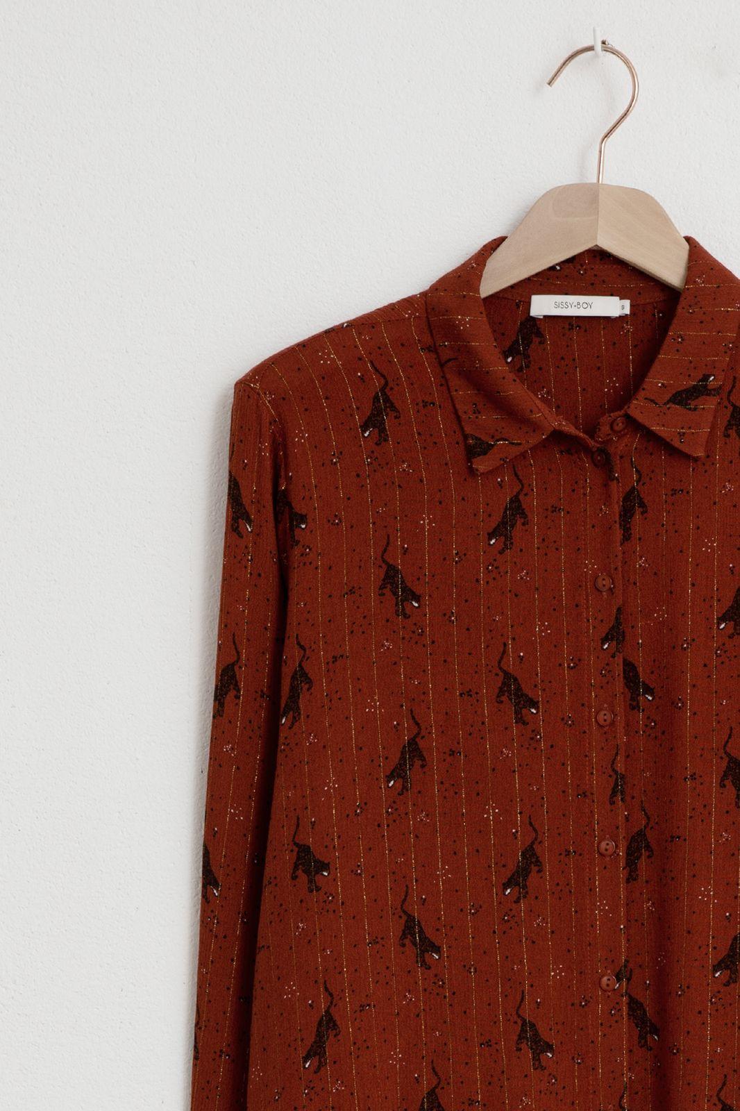 Rode viscose blouse met all over print - Dames   Sissy-Boy