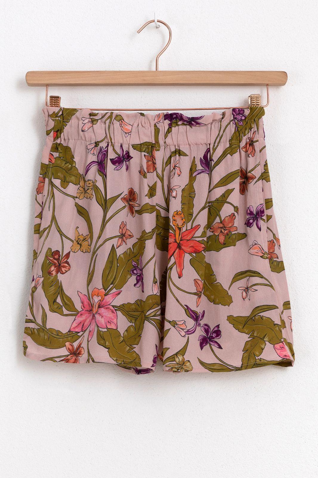 Roze shorts met print
