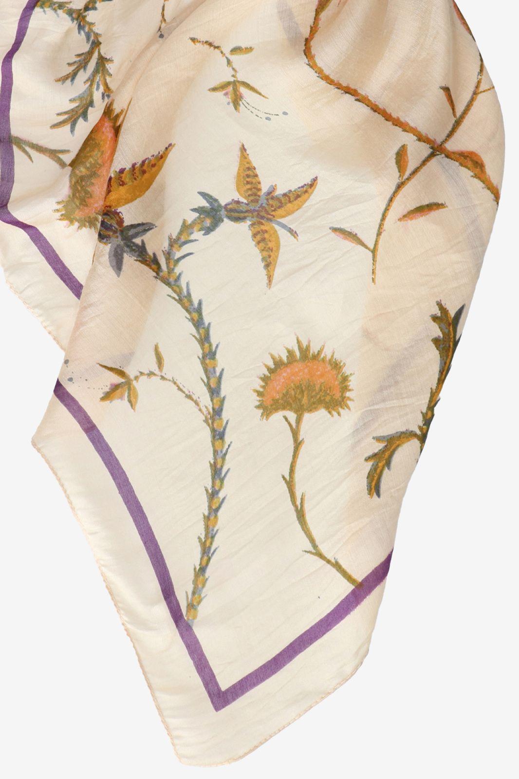 Viscose zijde sjaal met print - Dames   Sissy-Boy