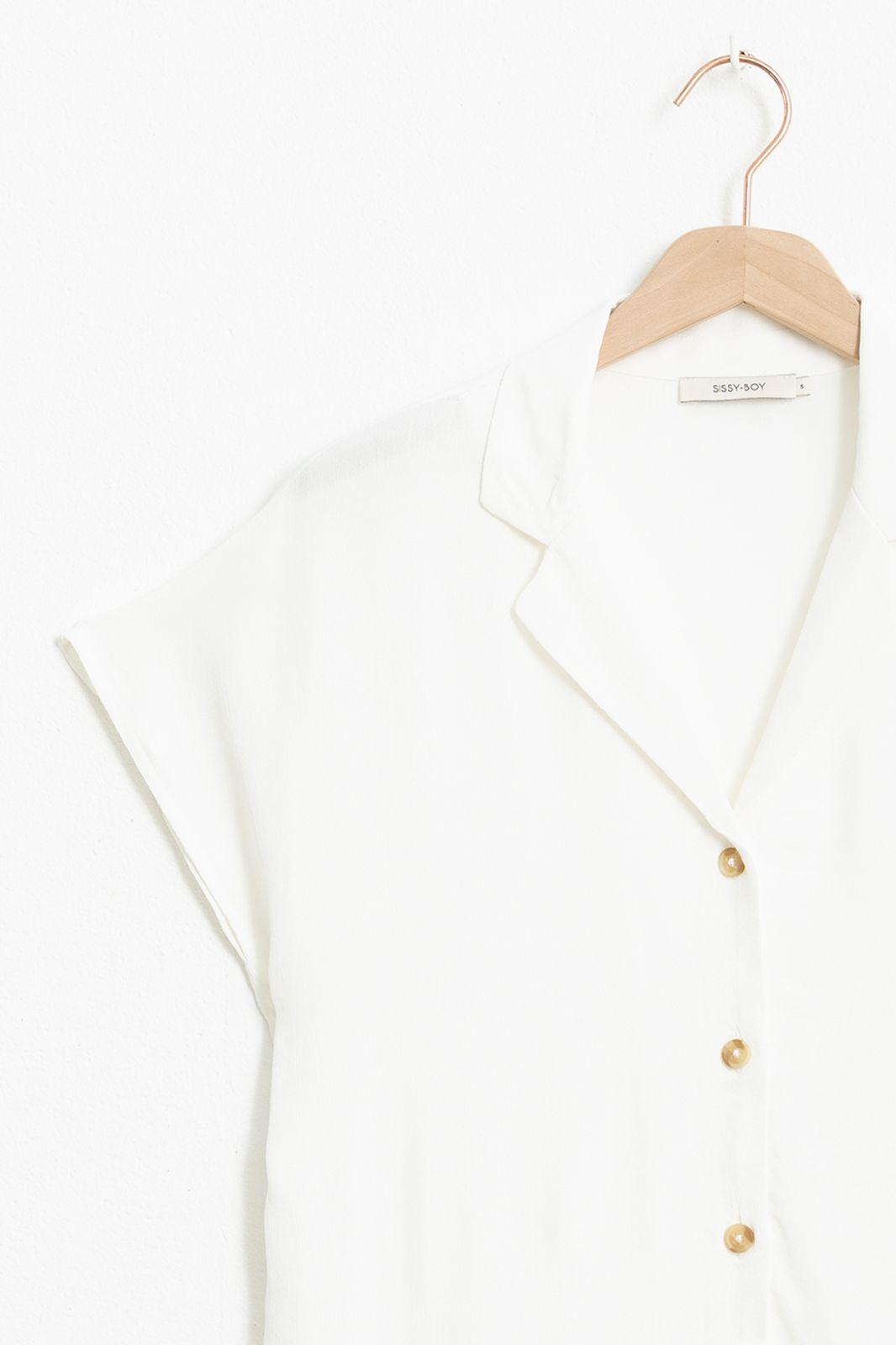 Witte blouse met korte mouwen - Dames   Sissy-Boy