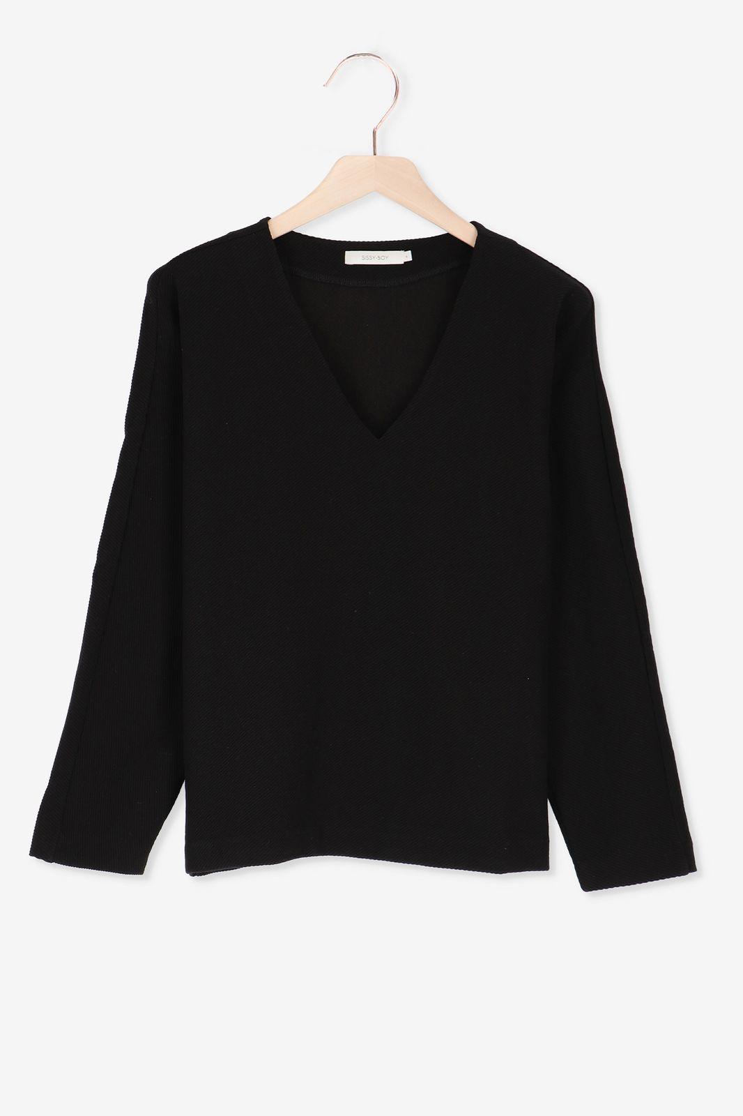 Zwarte sweater met structuur