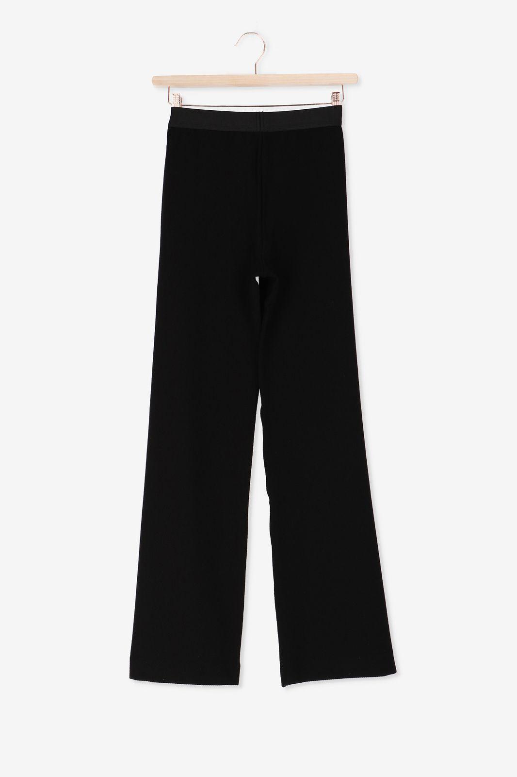 Zwarte elastische loose-fit broek