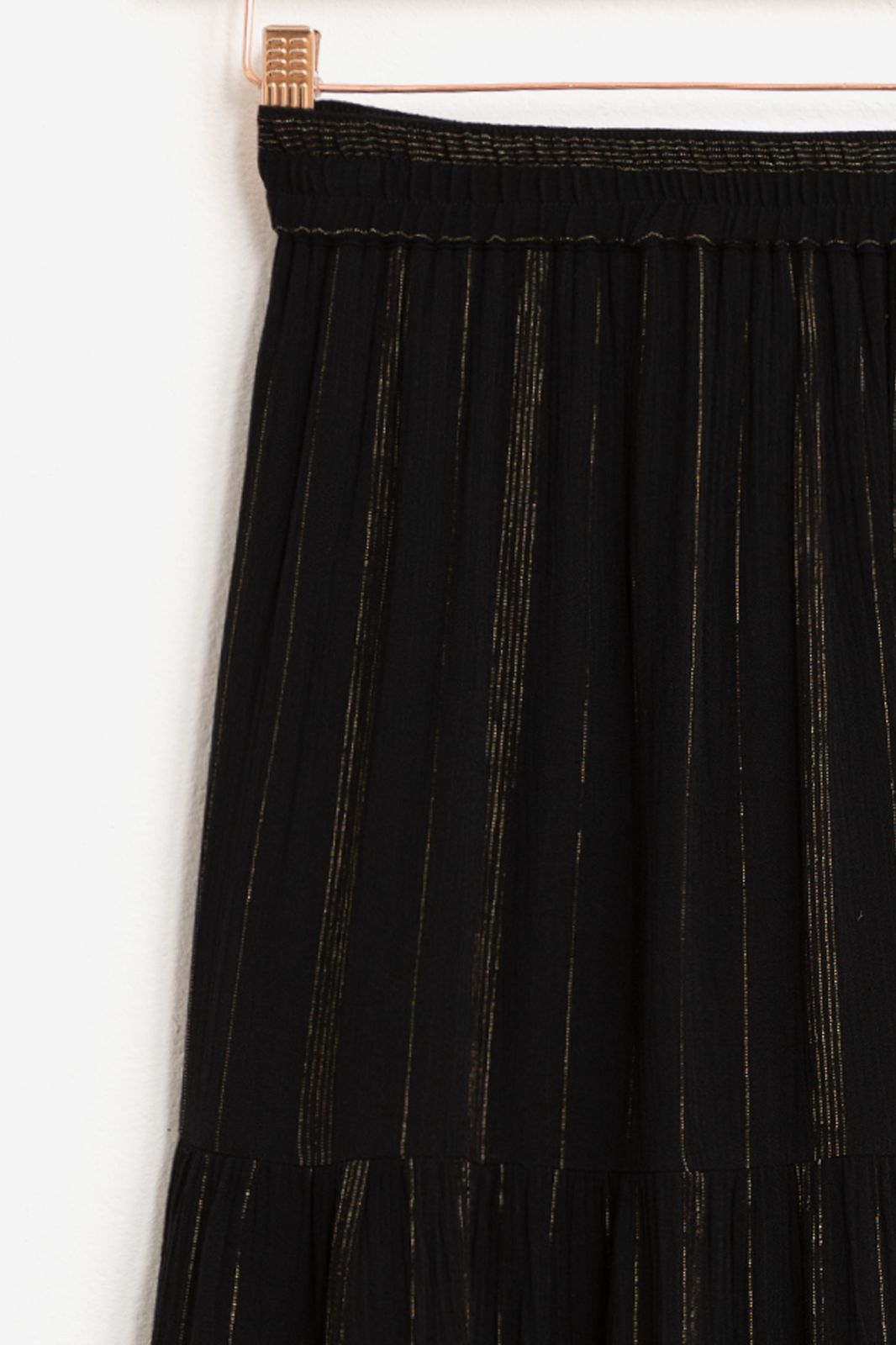 Zwarte rok met goudkleurig lurex