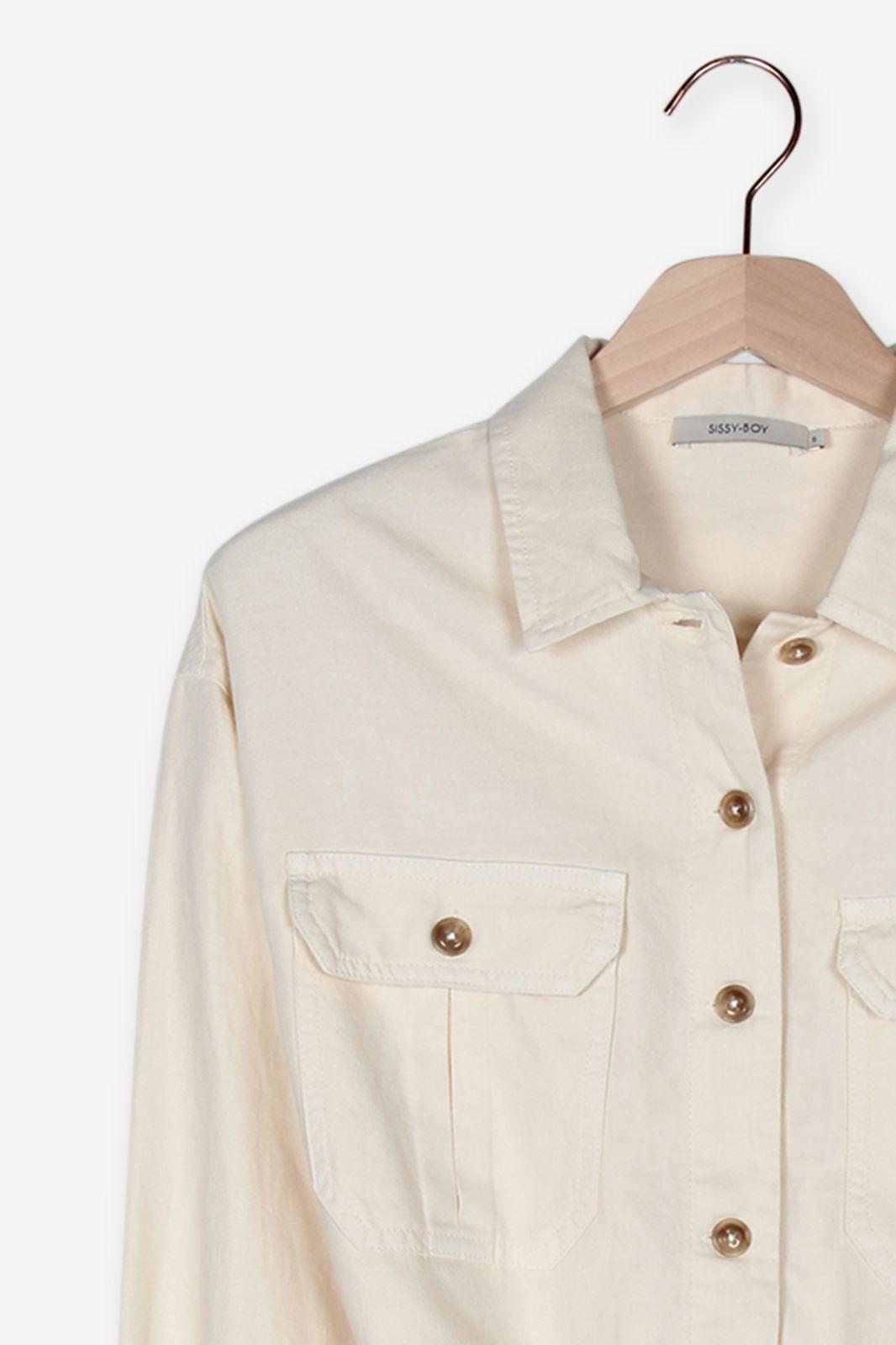 Offwhite oversized blouse jas - Dames | Sissy-Boy