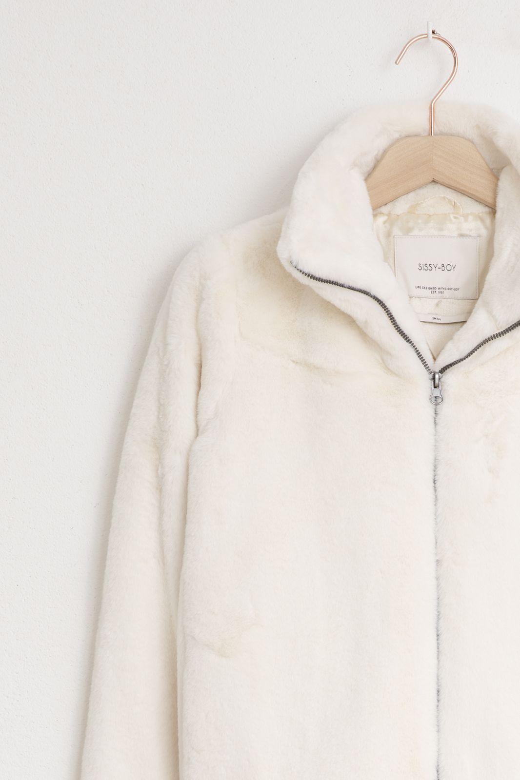 Witte faux fur jas - Dames | Sissy-Boy