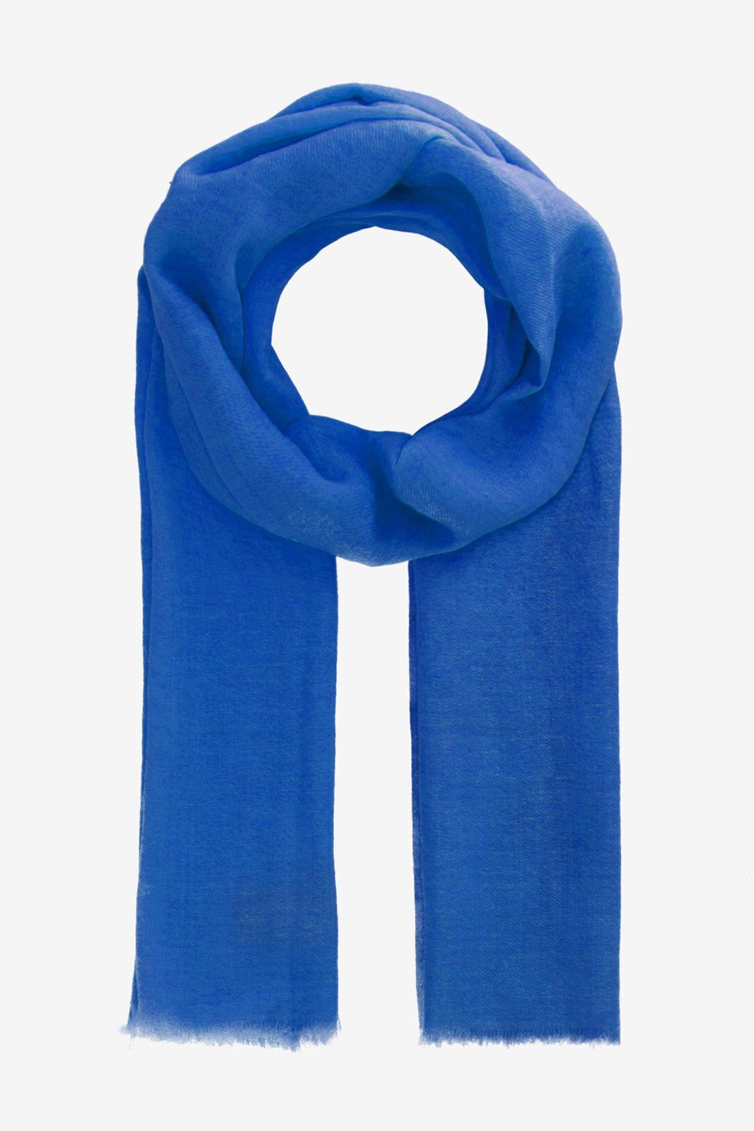 Blauwe sjaal van wol zijde mix - Dames   Sissy-Boy