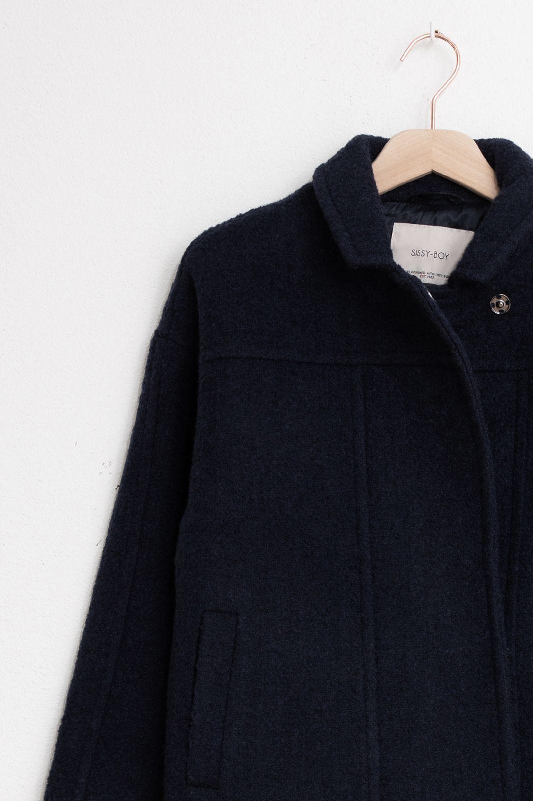 Blauwe boucle jas kort - Dames | Sissy-Boy